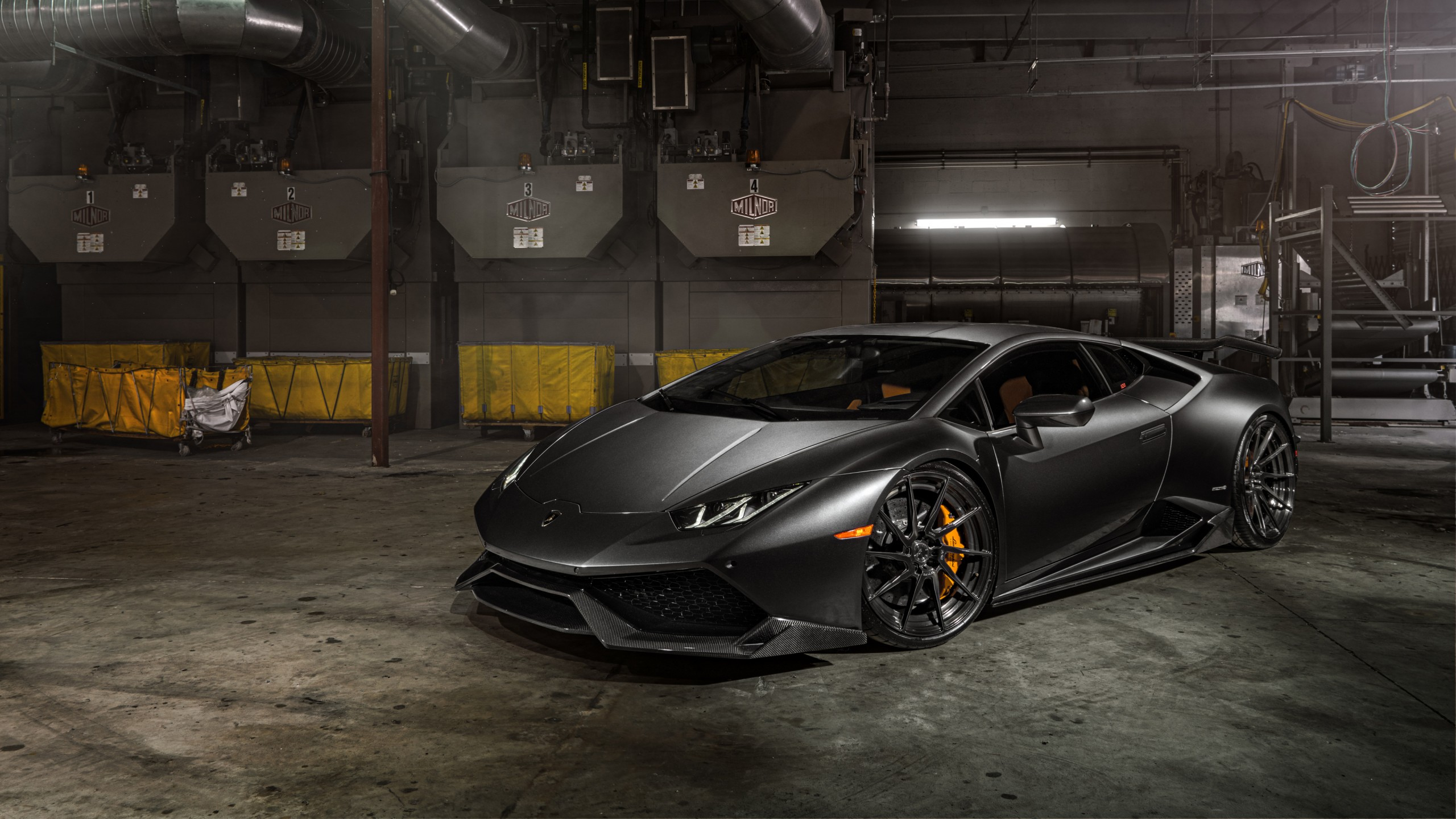 ADV1 Wheels Lamborghini Huracan 4K Wallpaper