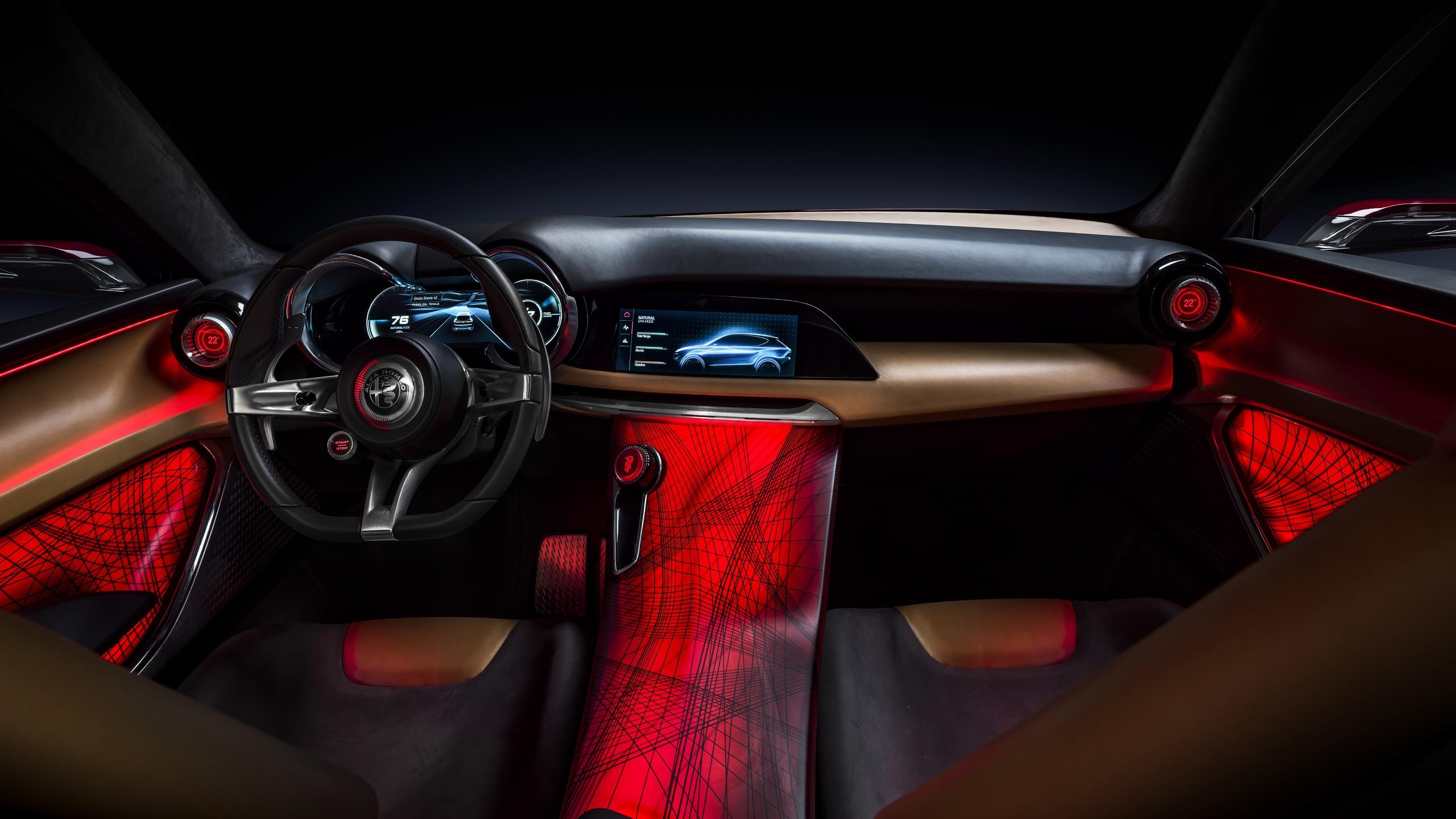 Alfa Romeo Giulia >> Alfa Romeo Tonale Concept 2019 4K Interior Wallpaper | HD ...