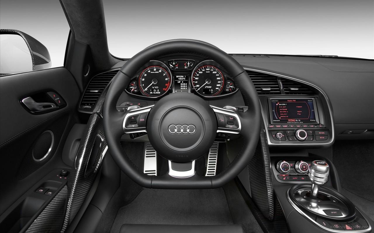 Audi R8 v10 Interior Wallpaper | HD Car Wallpapers | ID #165