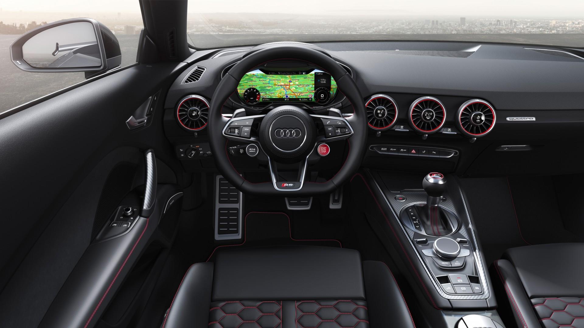 audi tt rs roadster 2019 4k interior wallpaper