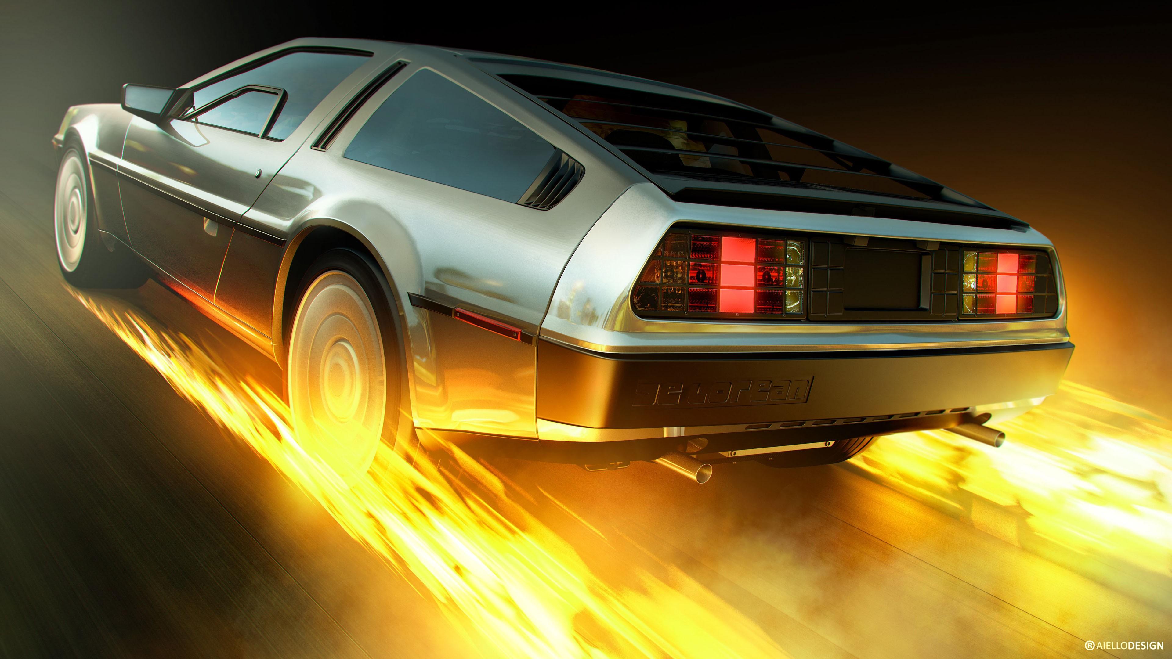 Back To The Future Delorean 4k Wallpaper Hd Car Wallpapers Id 8033