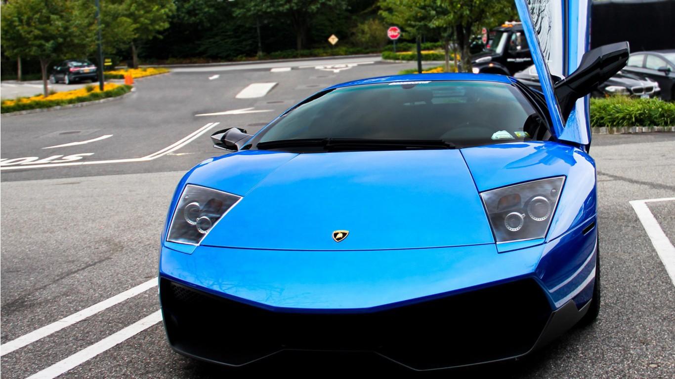 Blue Lamborghini Car Wallpaper | HD Car Wallpapers | ID #2789