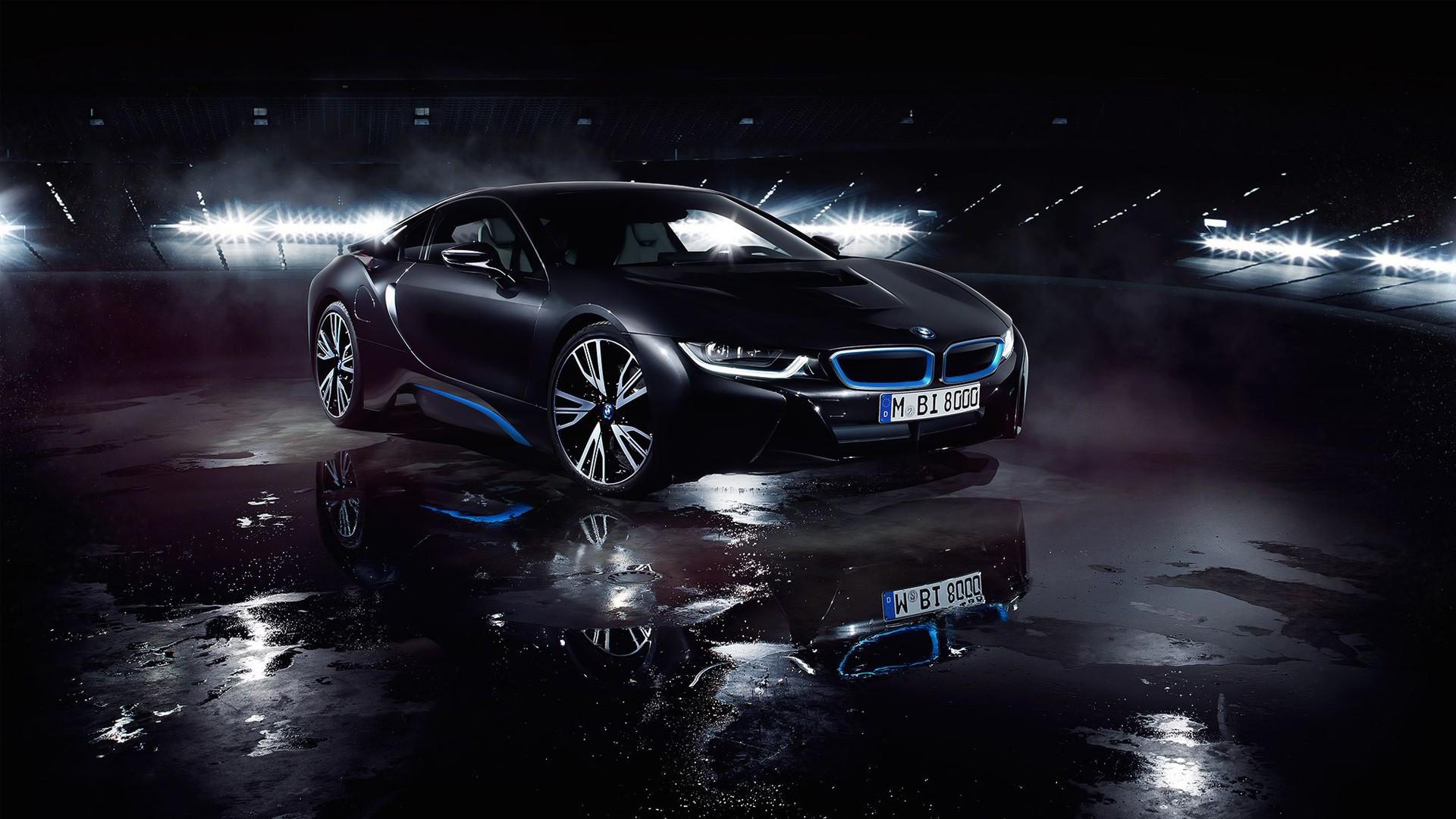 BMW I8 Matte Black Wallpaper