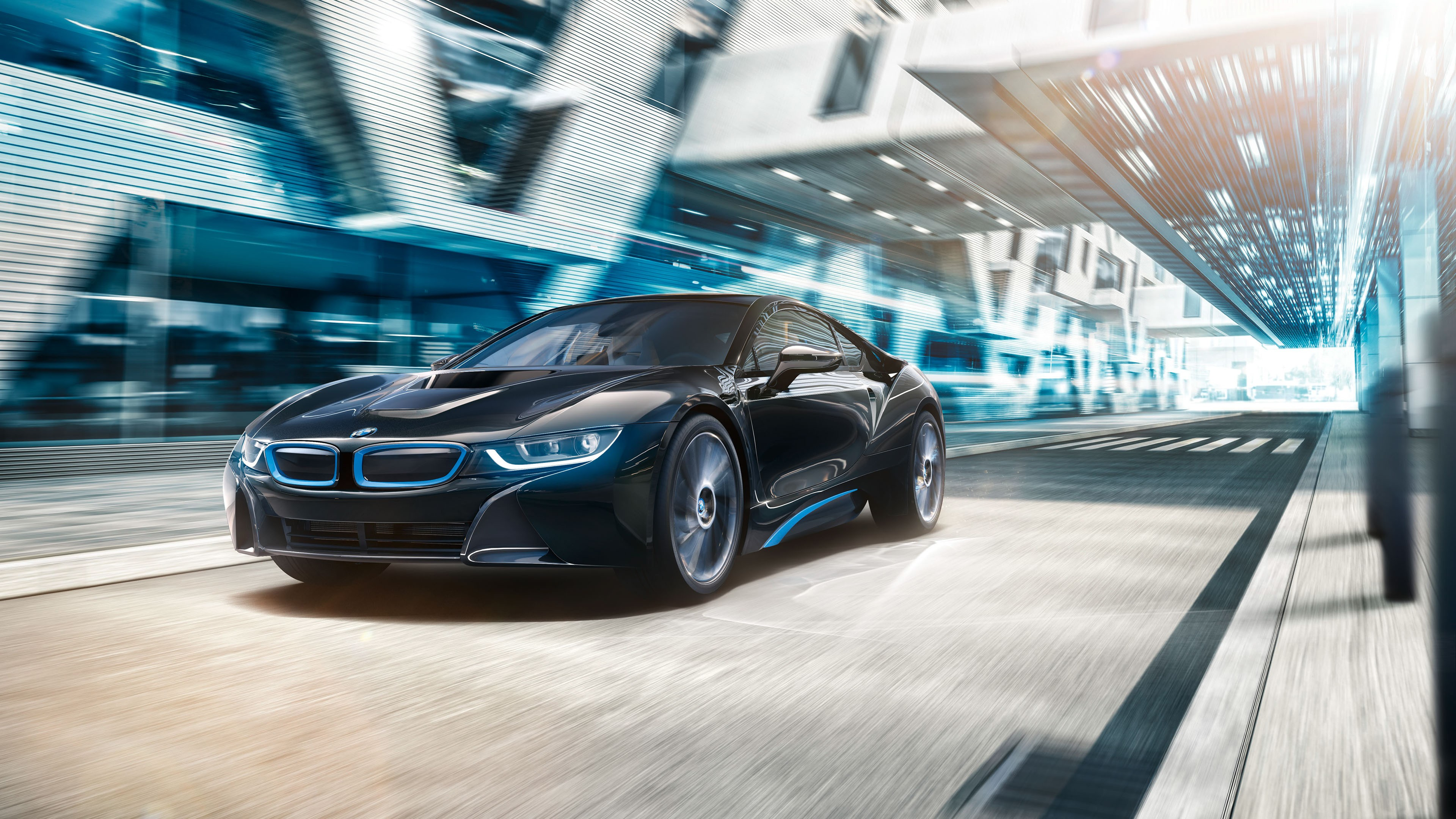 BMW i8 Night Black 4K Wallpaper | HD Car Wallpapers | ID #8099