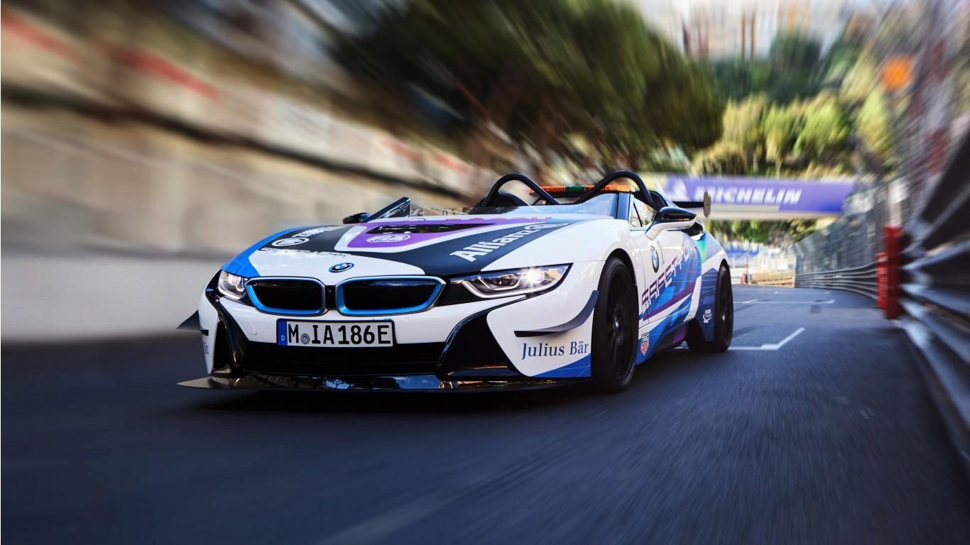 BMW i8 Roadster Formula E Safety Car 2019 4K Wallpaper