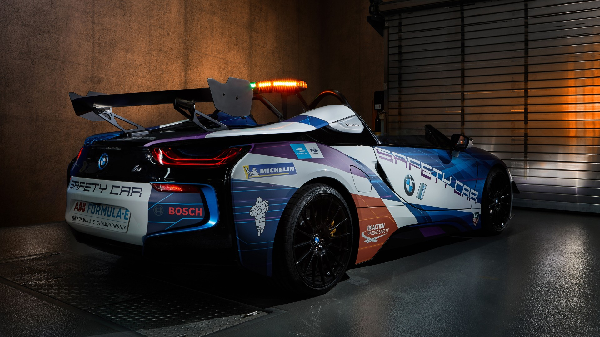 BMW i8 Roadster Formula E Safety Car 2019 5K 2 3 Wallpaper ...