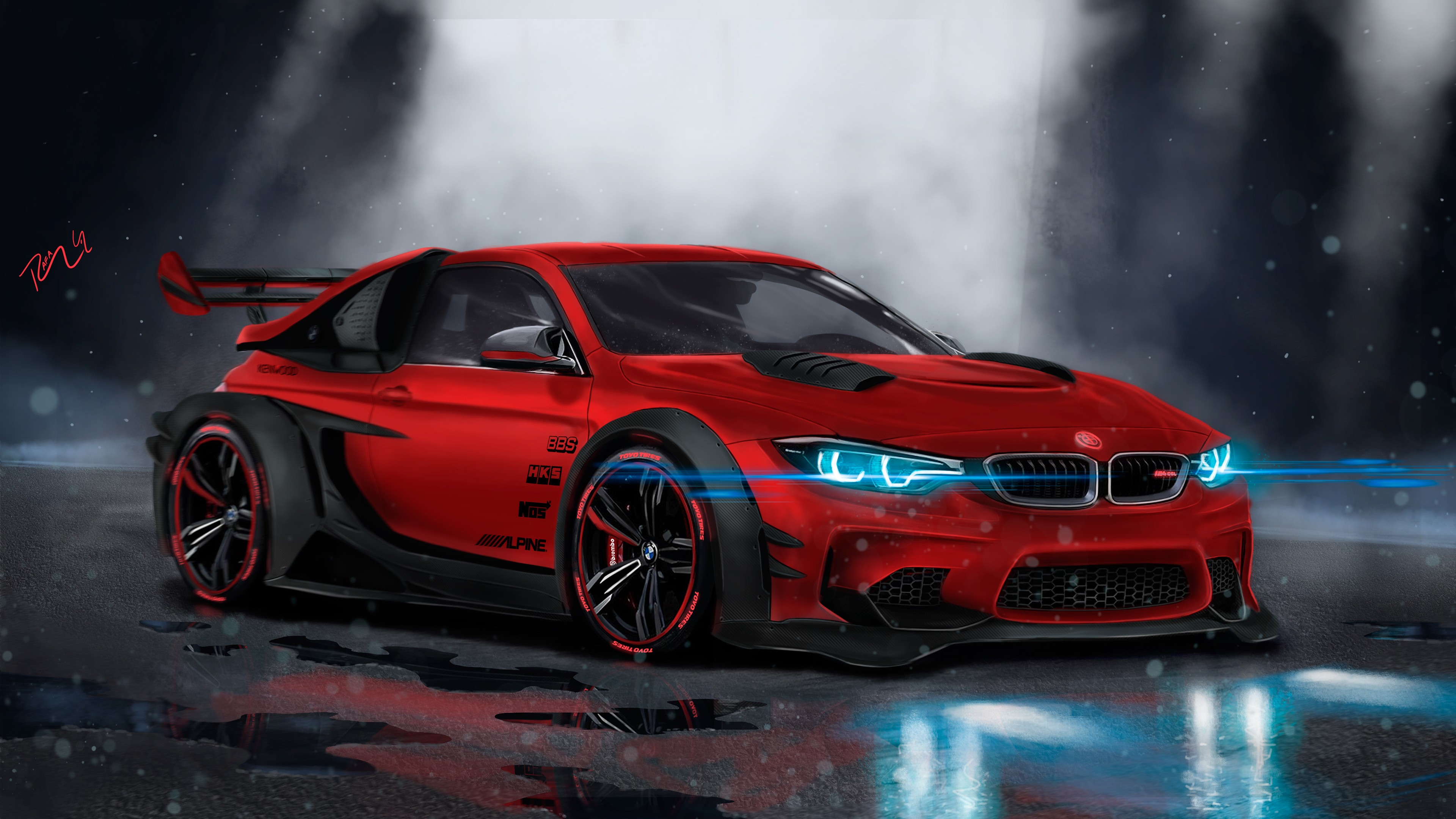 BMW M4 Custom CGI 4K Wallpaper