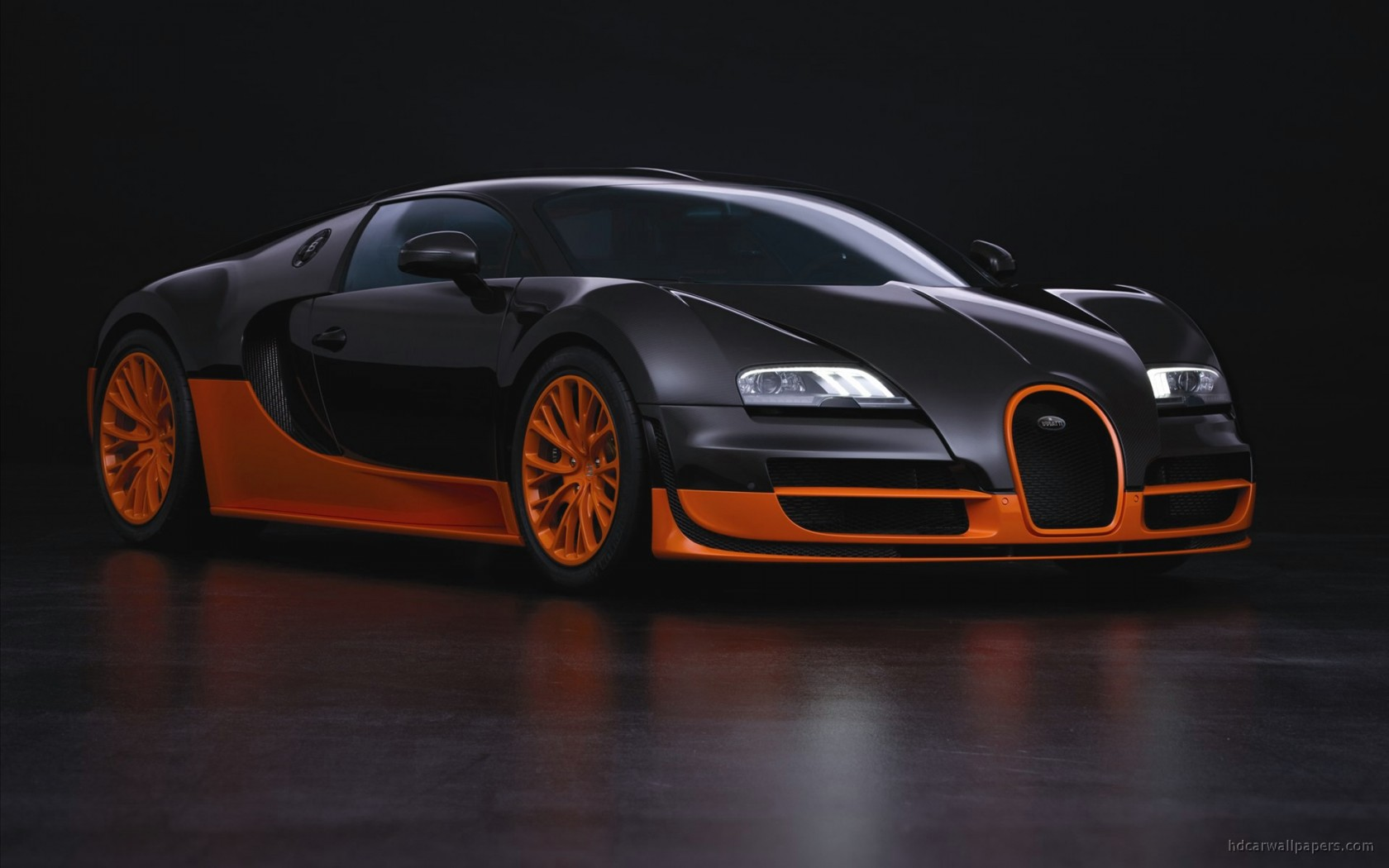 bugatti veyron super sports car wallpaper in 1680x1050 resolution. Black Bedroom Furniture Sets. Home Design Ideas