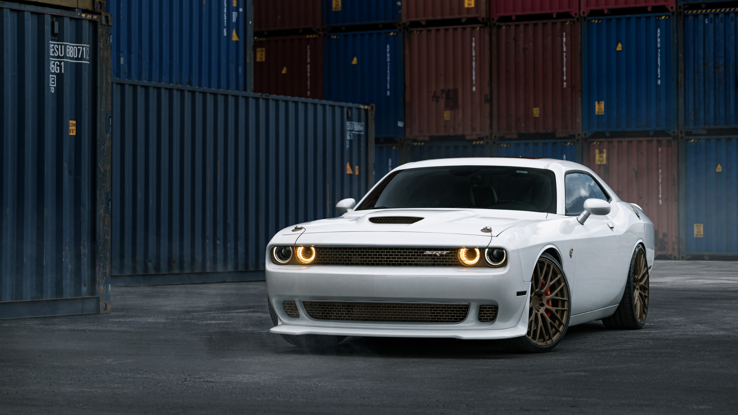 dodge challenger srt hellcat white wallpaper hd car wallpapers id 6945. Black Bedroom Furniture Sets. Home Design Ideas
