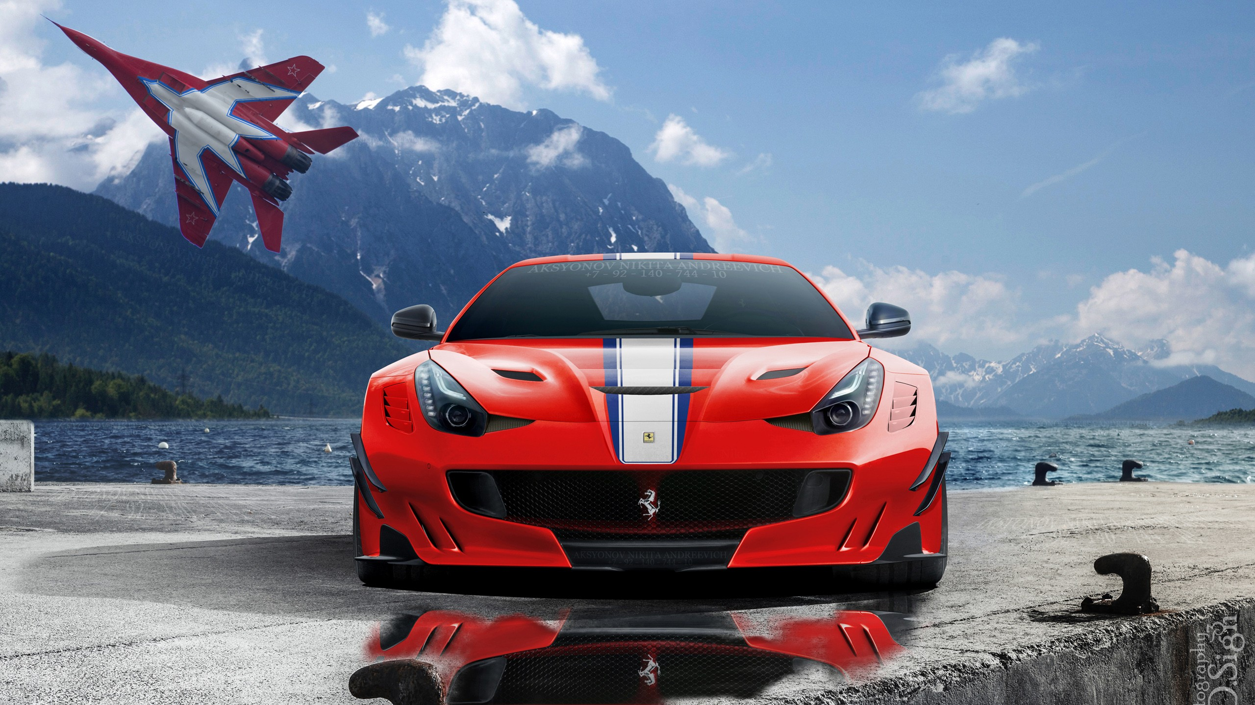 Red Ferrari Italia By Tomirri Photography px Wallpaper