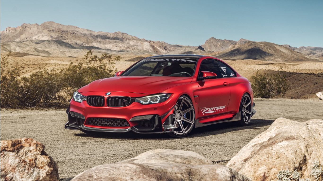 Ferrada Red Matte Bmw M4 2 Wallpaper Hd Car Wallpapers
