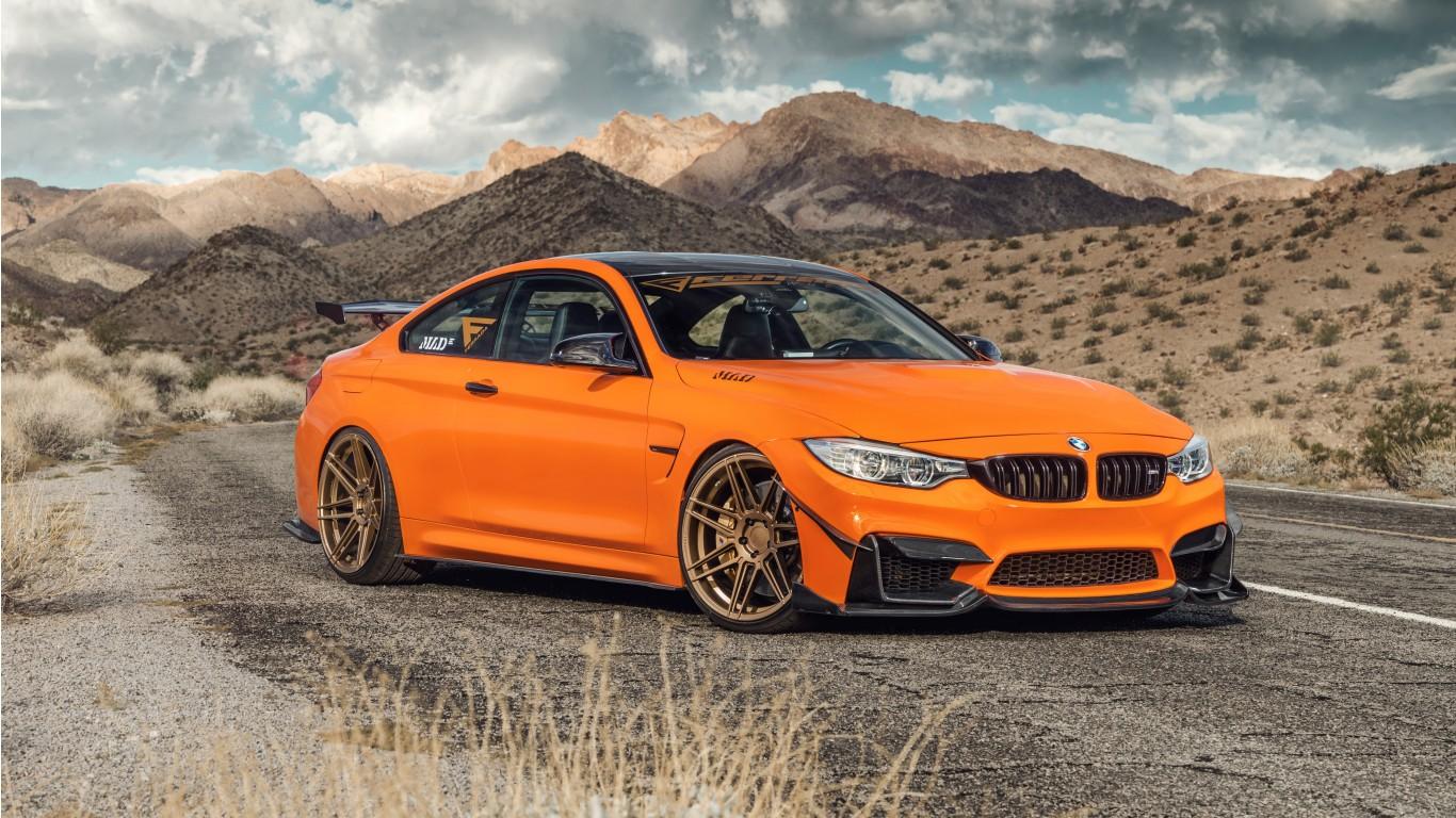 Ferrada Sema Orange Bmw M4 5k Wallpaper Hd Car