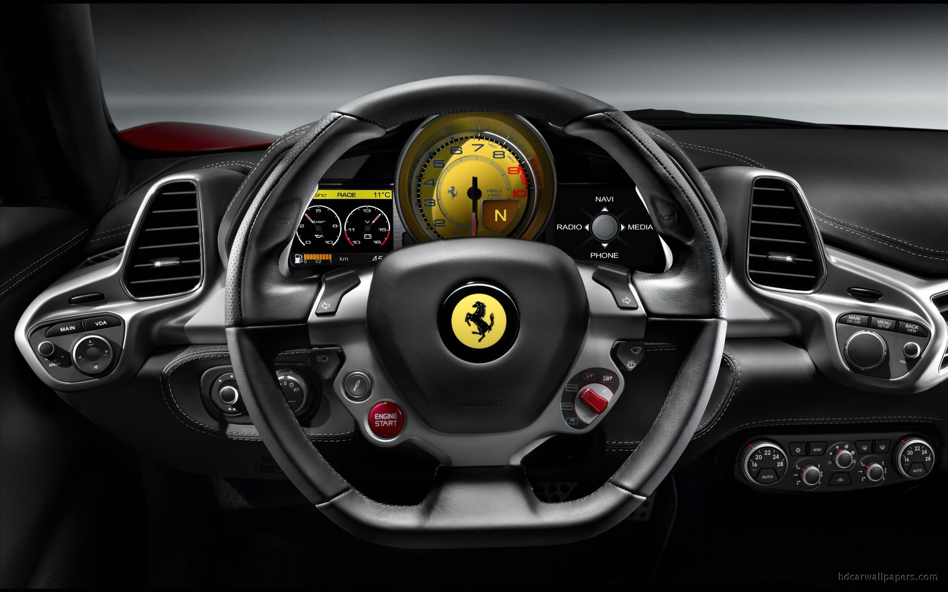 ferrari 458 italia interior wallpaper hd car wallpapers id 738. Black Bedroom Furniture Sets. Home Design Ideas