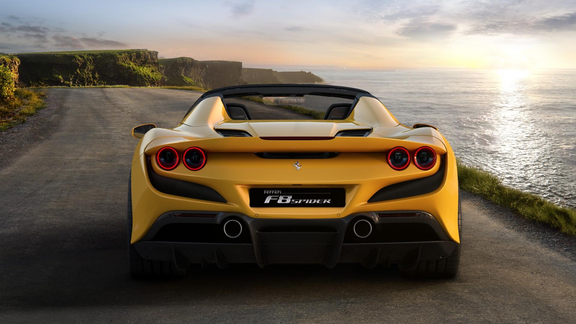 32+ Ferrari F8 Spider Wallpaper Yellow  Images