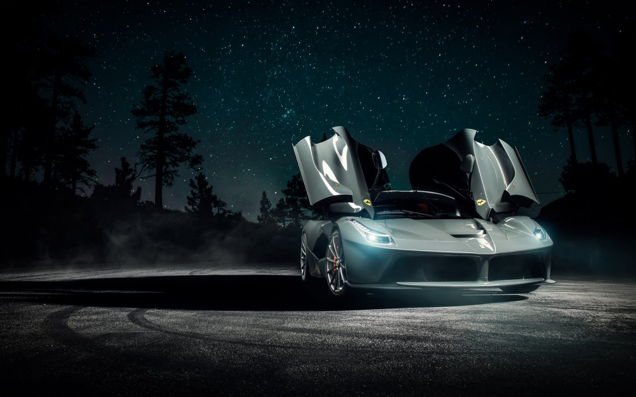 Ferrari Laferrari Vossen Wheels Wallpaper Hd Car