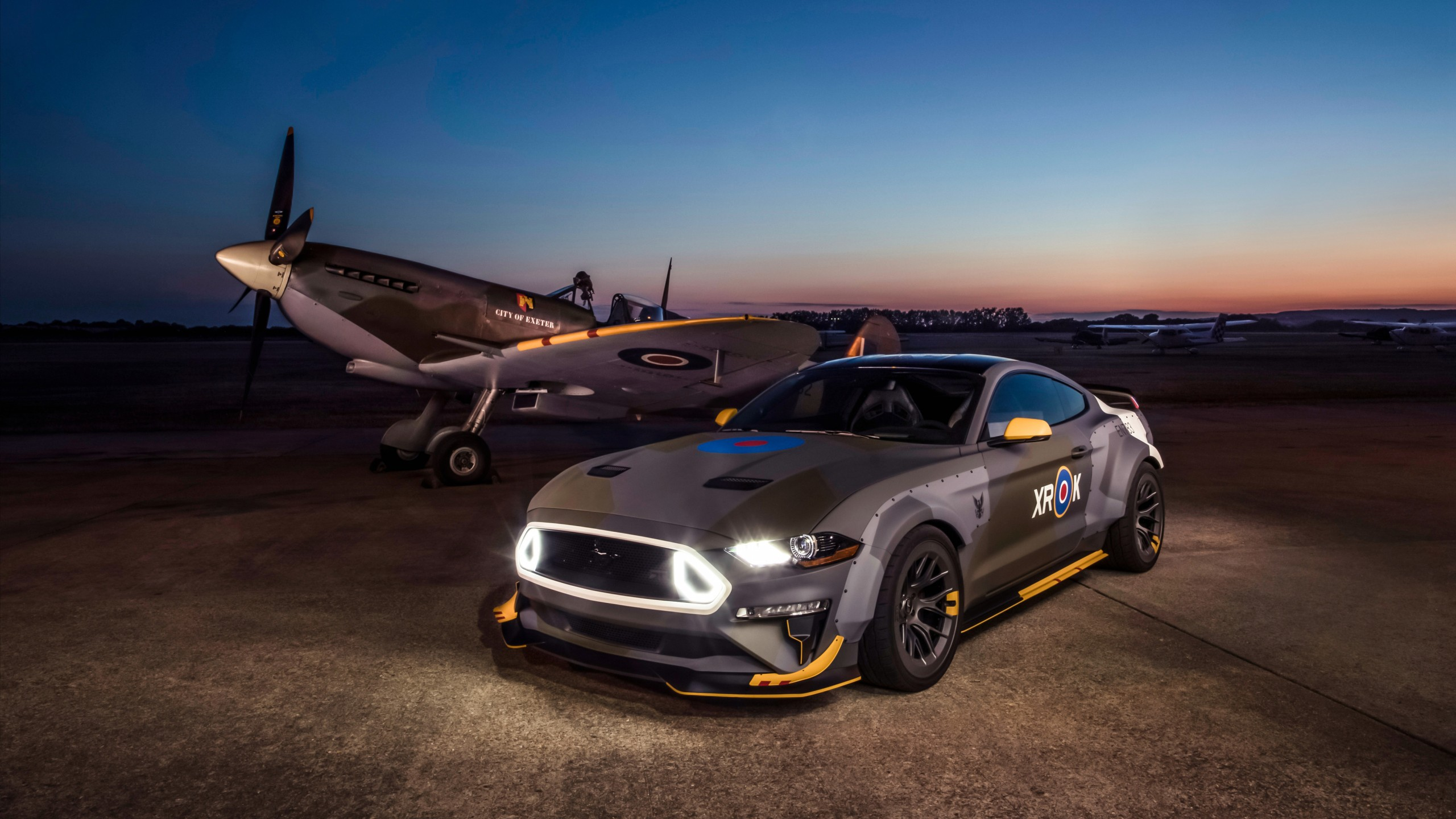 ford eagle squadron mustang gt 2018 4k 2 wallpaper