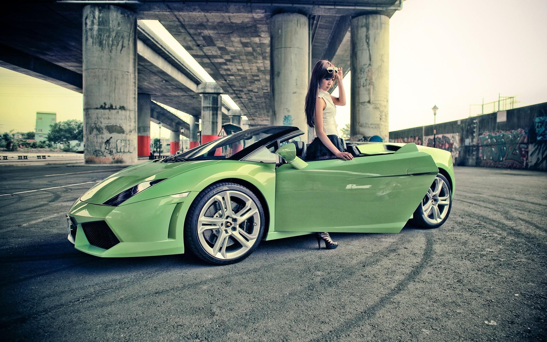 Acura Vs Lexus >> Girl With Lamborghini Gallardo Wallpaper | HD Car ...