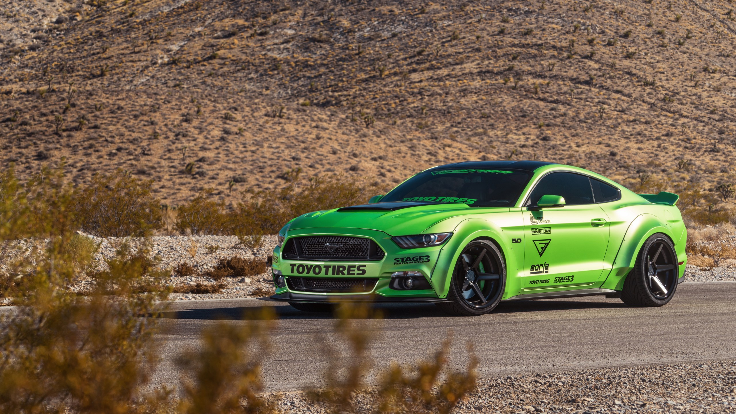 Green Ford Mustang Gt Ferrada Wheels 5k Wallpaper Hd Car