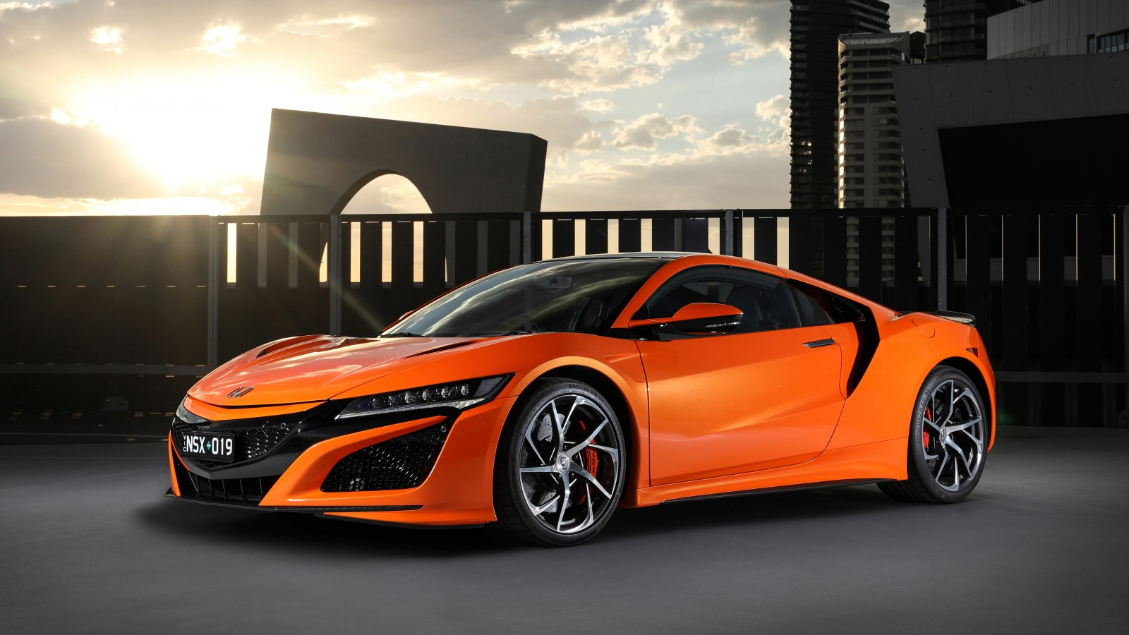 honda nsx 2019 4k wallpaper