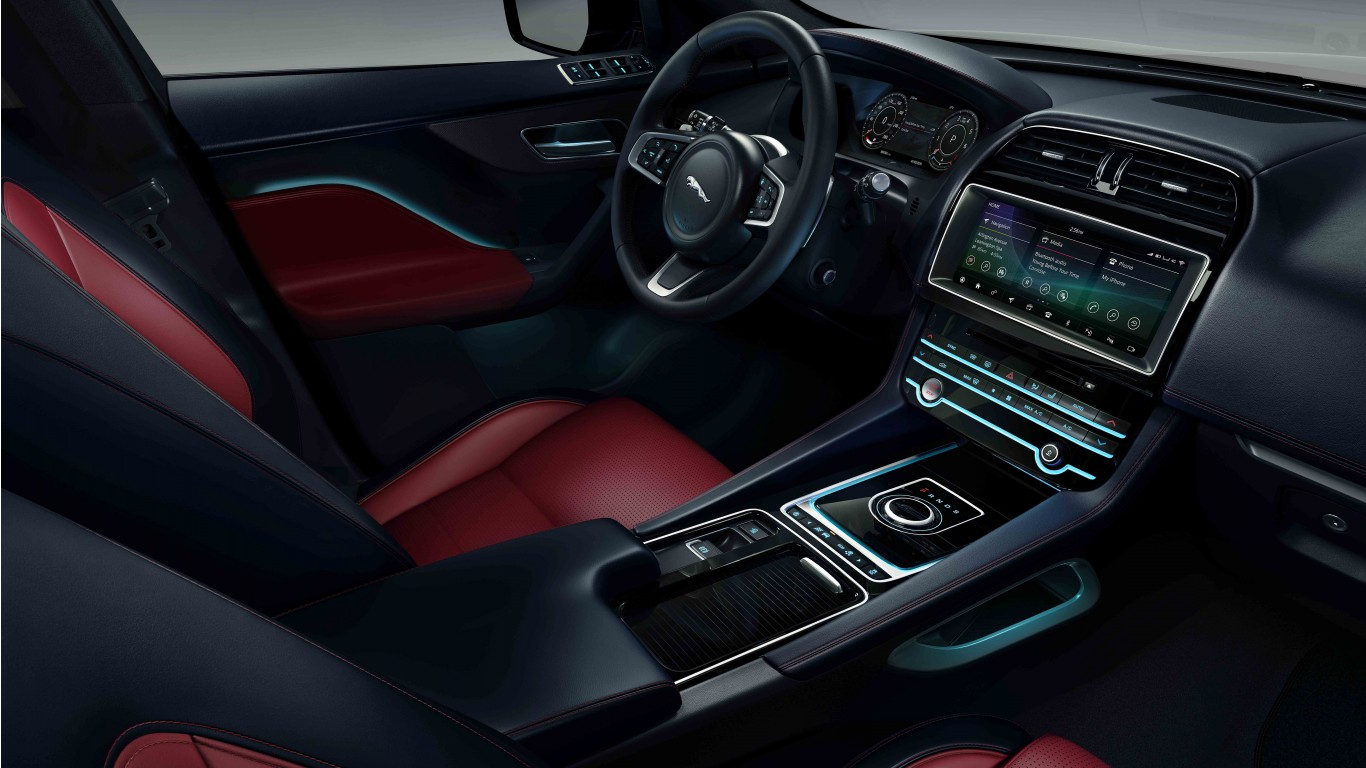 jaguar  pace chequered flag   interior wallpaper hd car wallpapers id