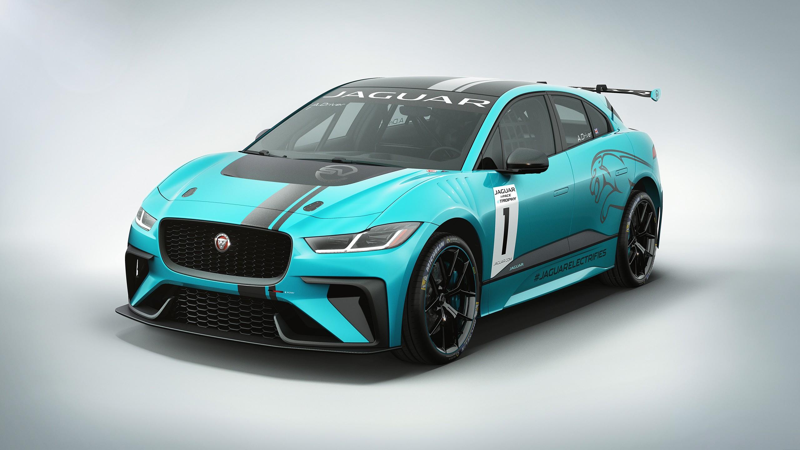 Jaguar I PACE ETROPHY Electric Race Car 4K 3 Wallpaper