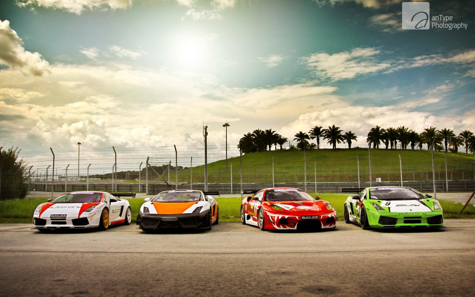 Lamborghini and ferrari cars wallpaper hd car wallpapers - Car racing wallpaper free download ...