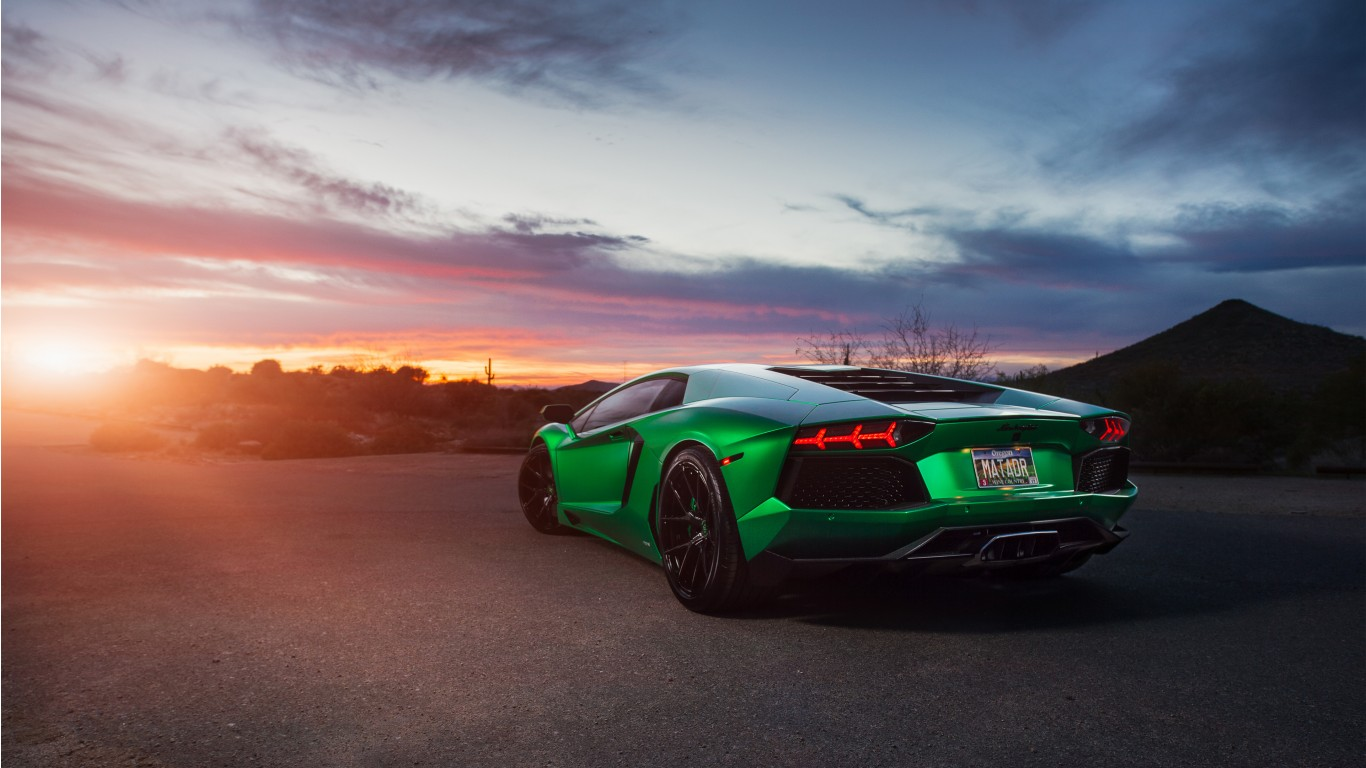 Lamborghini Aventador Green 4K Wallpaper | HD Car ...