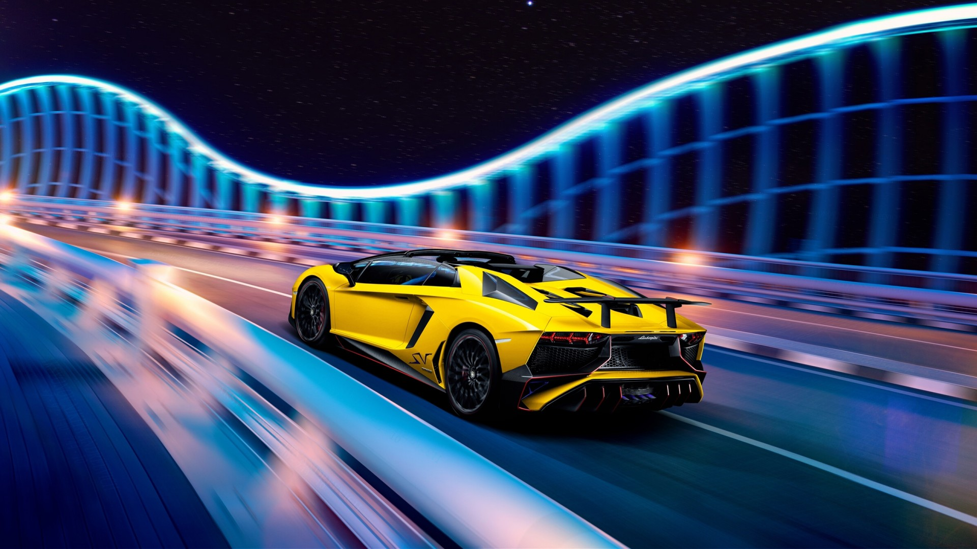 Group Of Lamborghini Neon Wallpapers