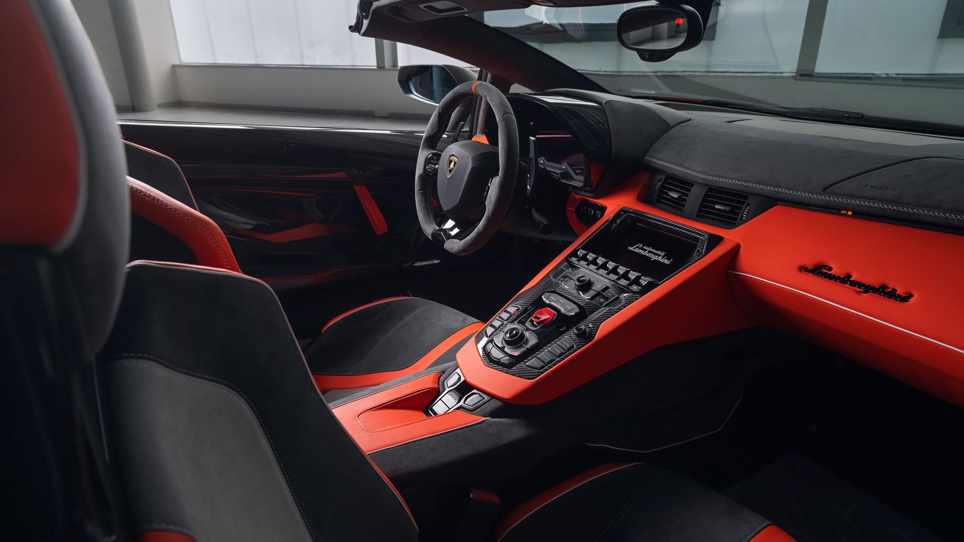 Lamborghini Aventador SVJ 63 Roadster 2020 4K Interior Wallpaper | HD Car Wallpapers | ID #13067