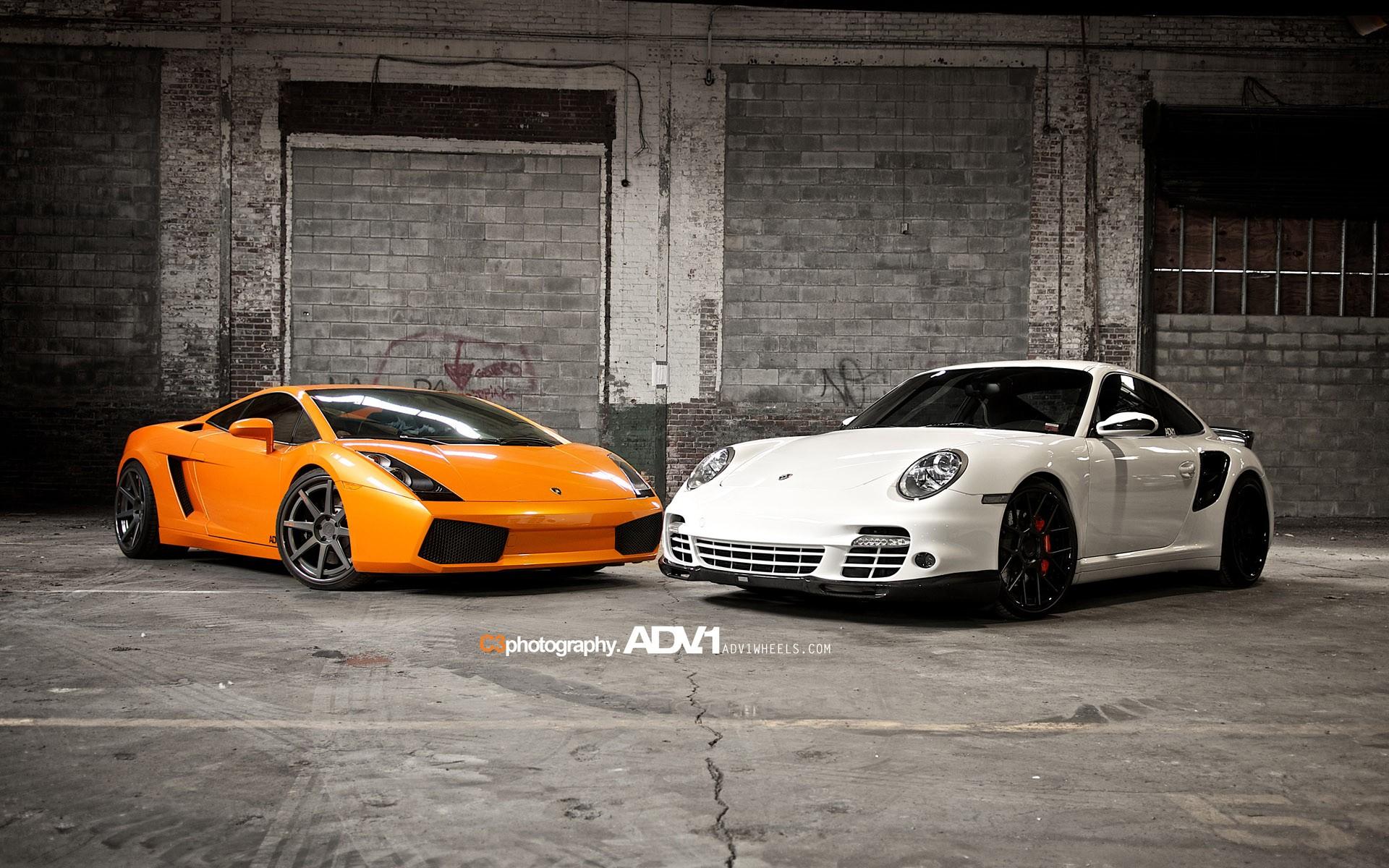 Lamborghini Gallardo and Porsche 997 TT Wallpaper | HD Car ...