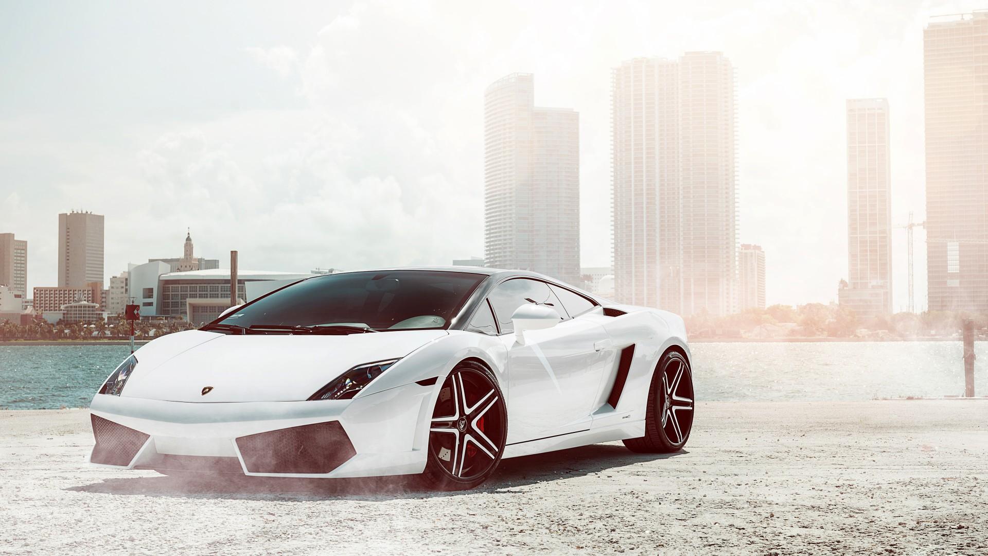 Lamborghini Aventador Car 4k Hd Desktop Wallpaper For 4k: Lamborghini Gallardo White Wallpaper