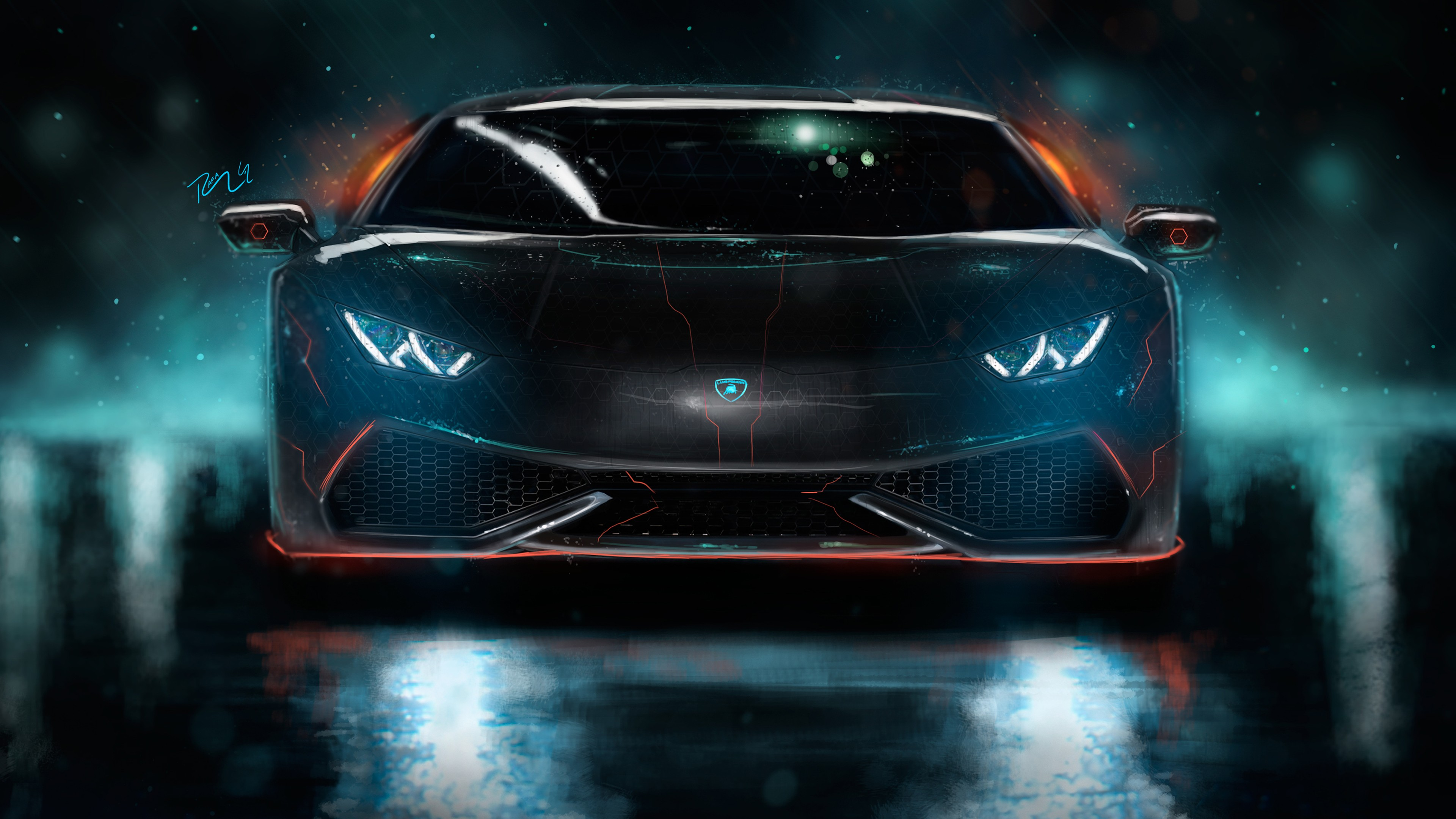 Custom Wallpaper 4k Pubattlegrounds: Lamborghini Huracan Custom CGI 4K Wallpaper