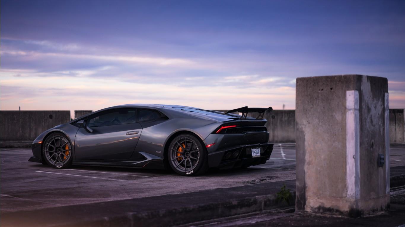 Lamborghini Huracan On Adv1 Wheels Wallpaper Hd Car