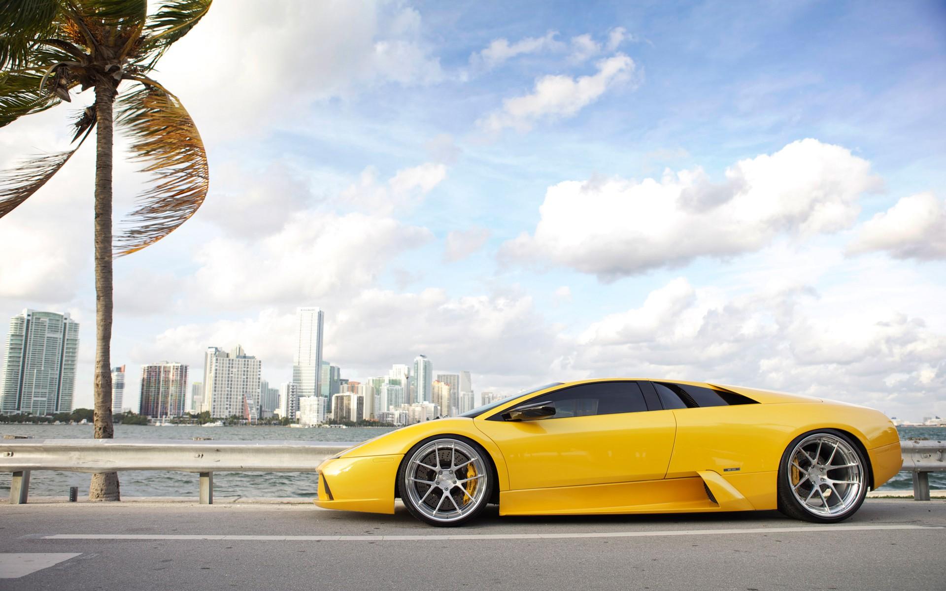 Adv1 Aventador Lamborghini Miami Wallpapers: Lamborghini Murcielago ADV1 Wheels Wallpaper