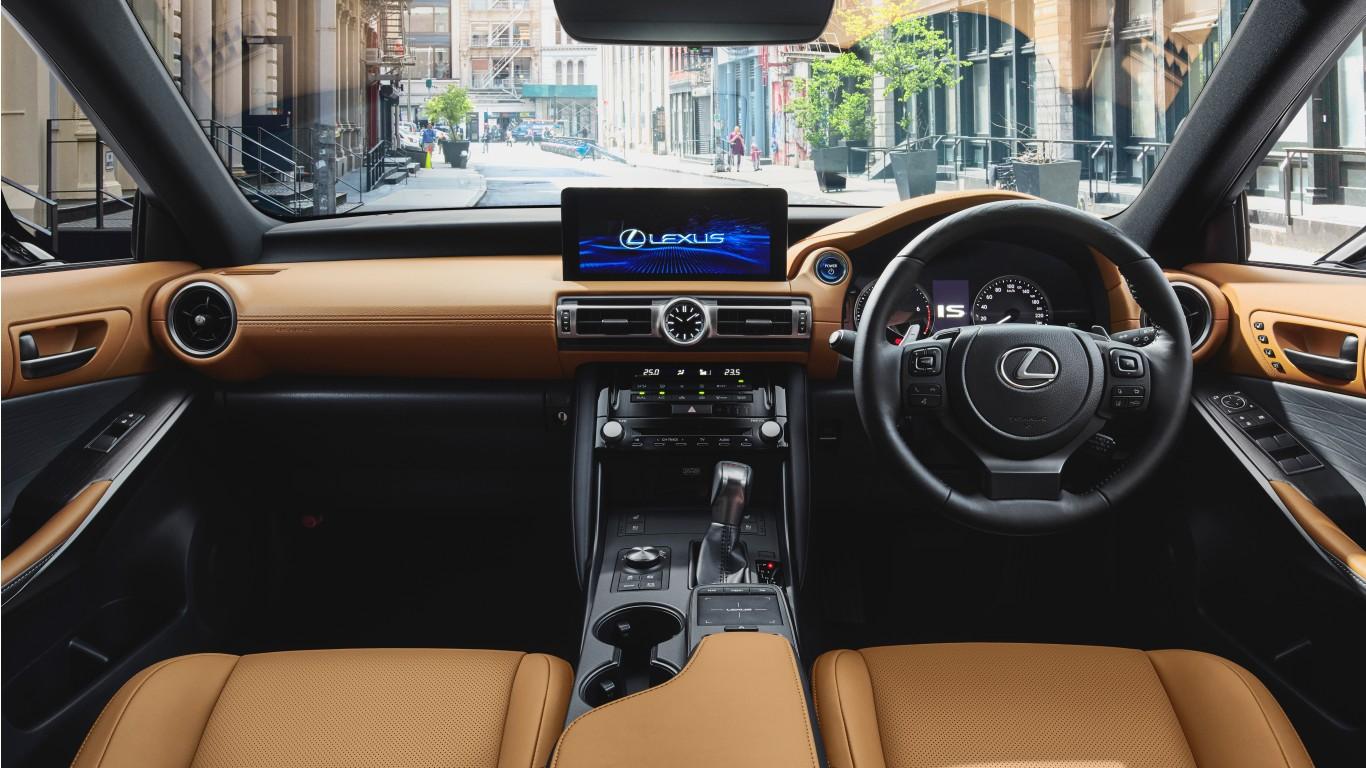 Lexus IS 300h 2021 5K Interior Wallpaper