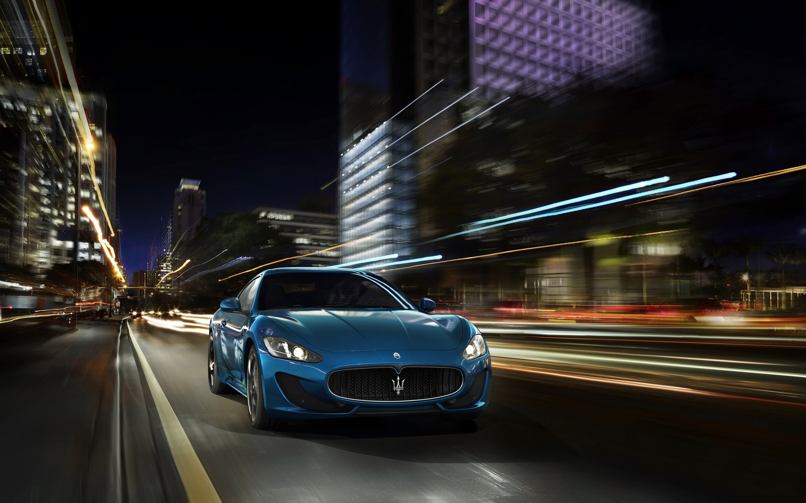 Gran Turismo Sport Iphone Wallpaper: Maserati GranTurismo Sport Blue 2014 Wallpaper