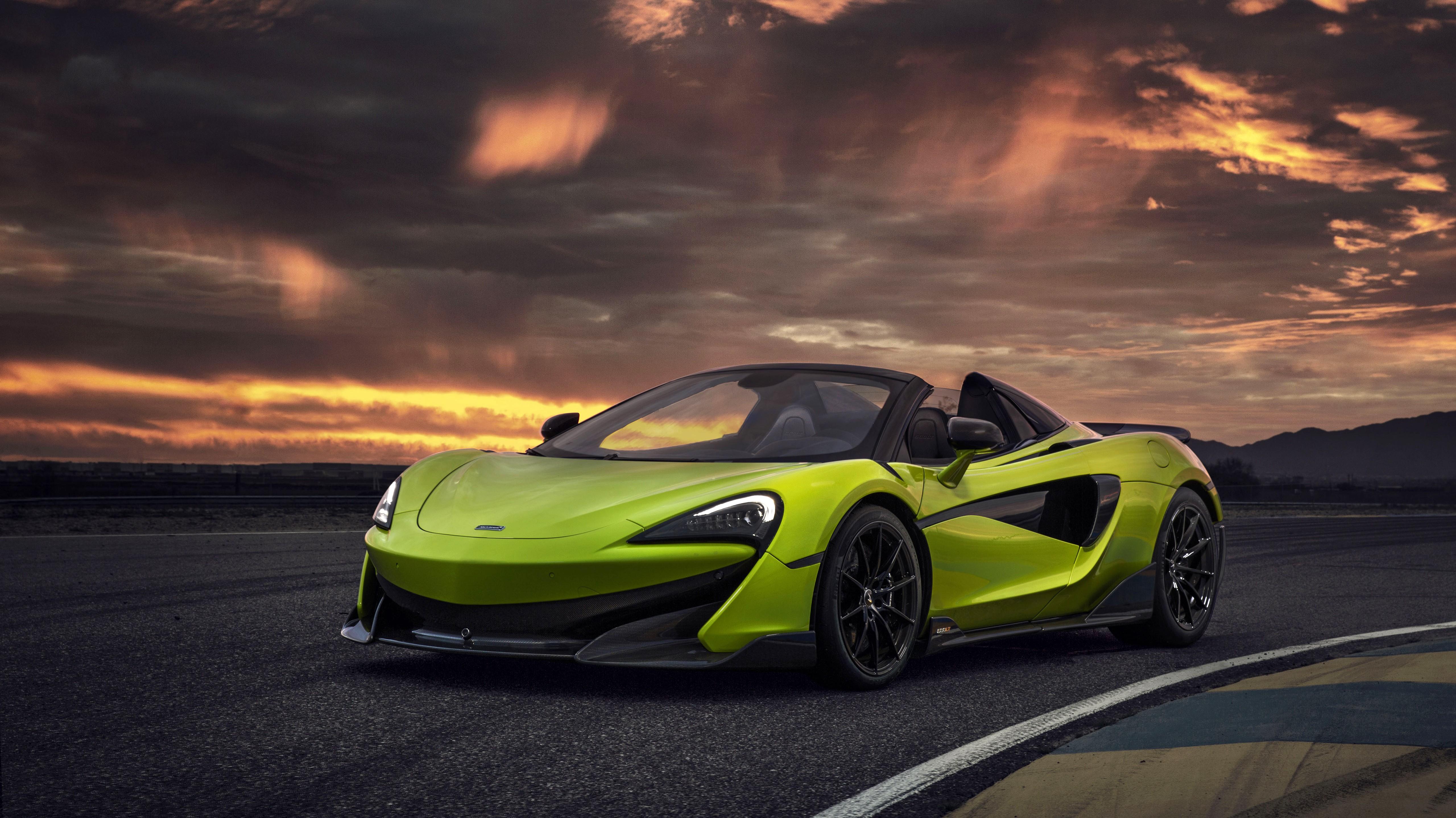 McLaren 600LT Spider Lime Green 2019 5K Wallpaper | HD Car ...