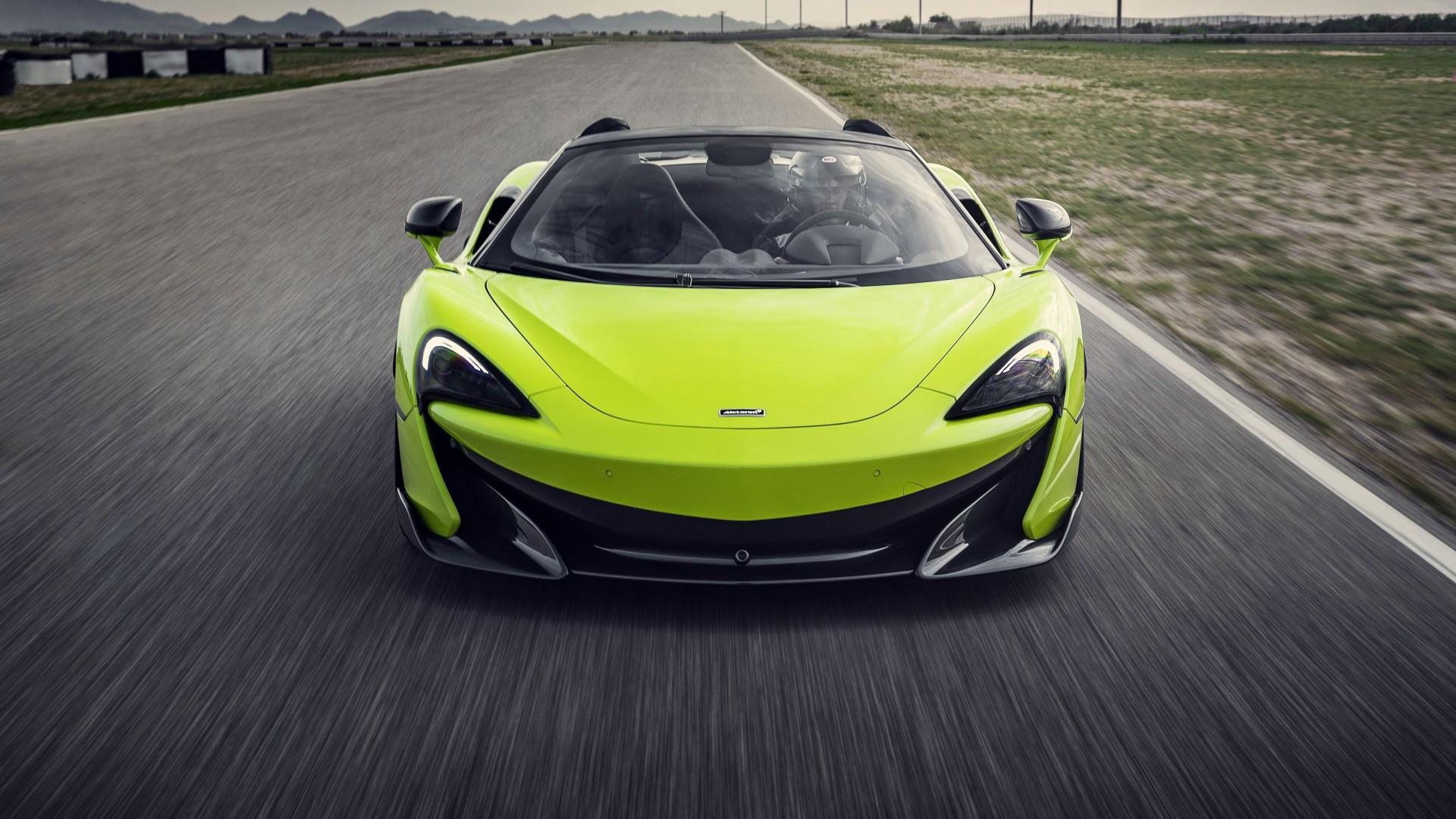 McLaren 600LT Spider Lime Green 2019 5K 2 Wallpaper | HD ...