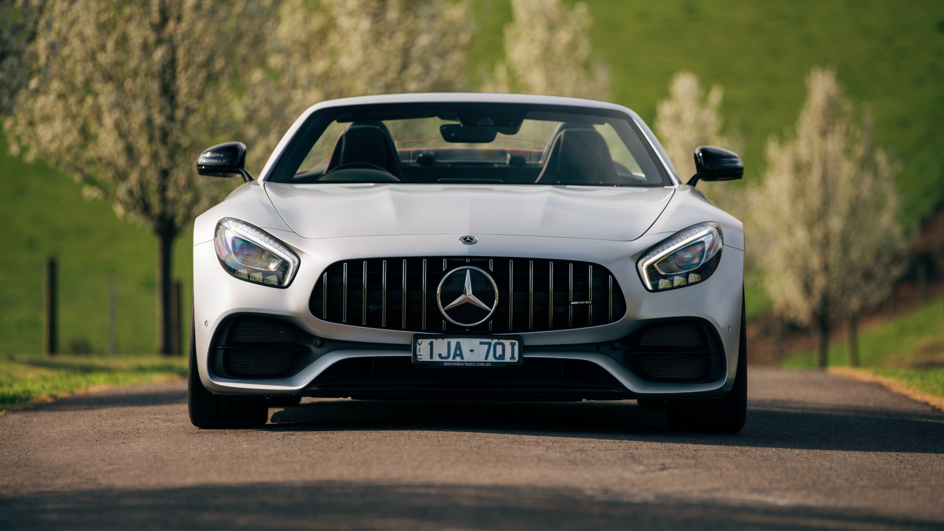 mercedes amg gt c roadster 2018 4k 2 wallpaper