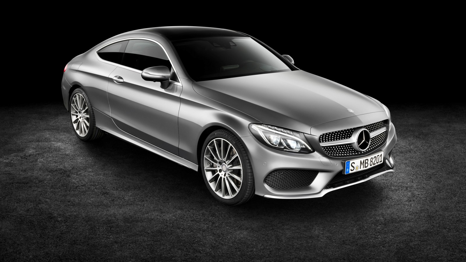Mercedes Benz C Class Coupe Red 2016 Wallpaper