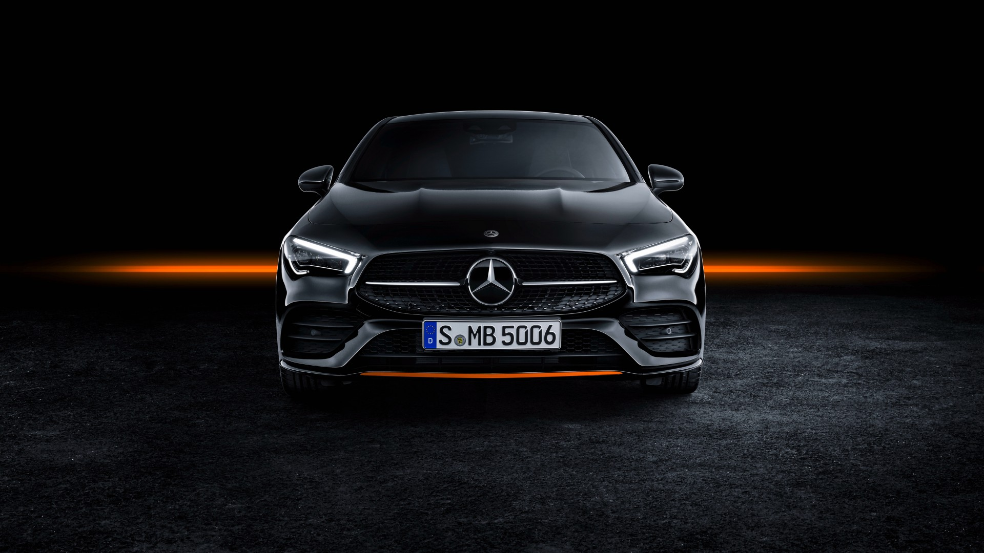 Mercedes Benz Cla 250 Amg Line Edition Orange Art 2019 4k