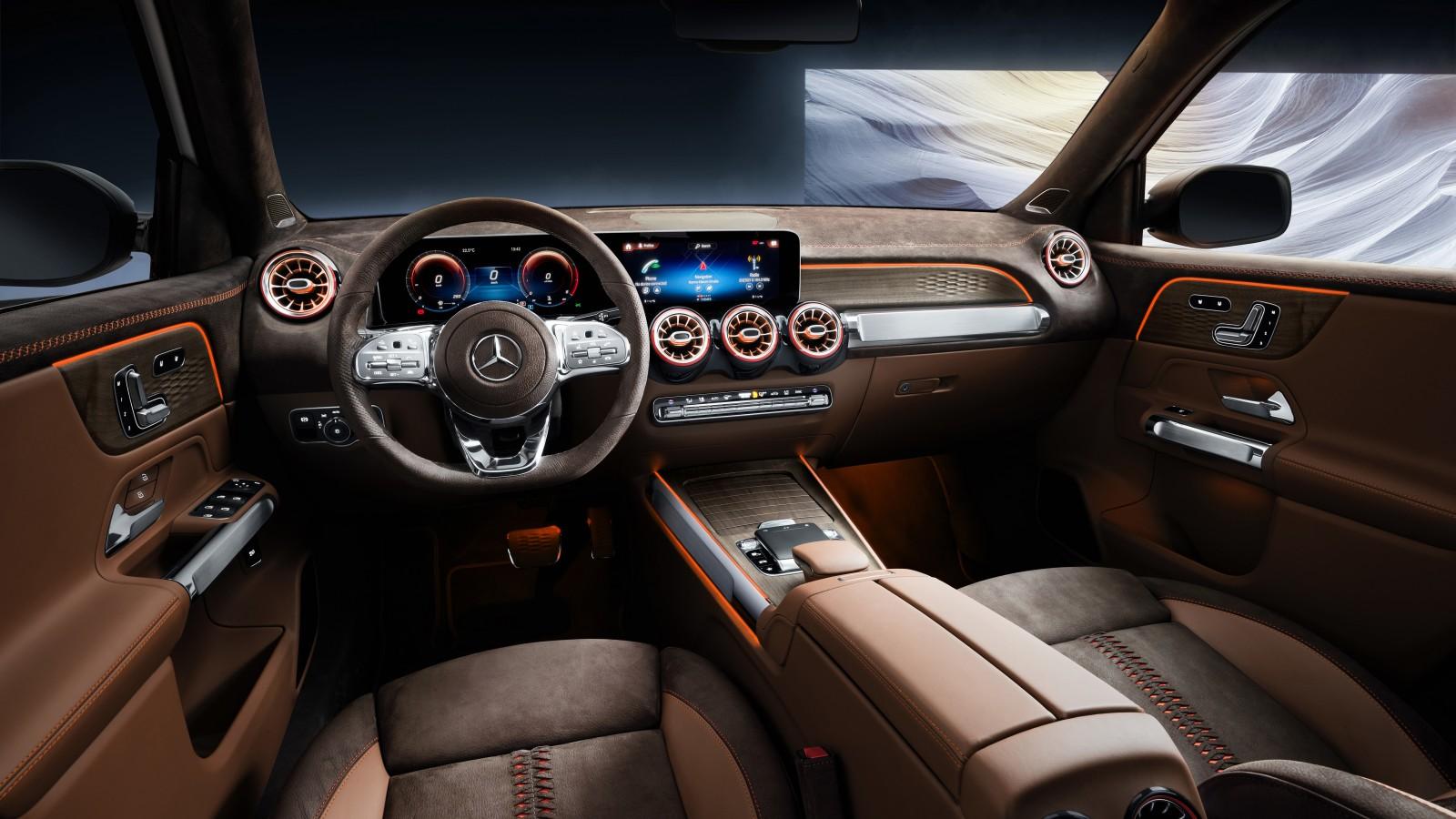 Mercedes-Benz Concept GLB 2019 5K Interior Wallpaper