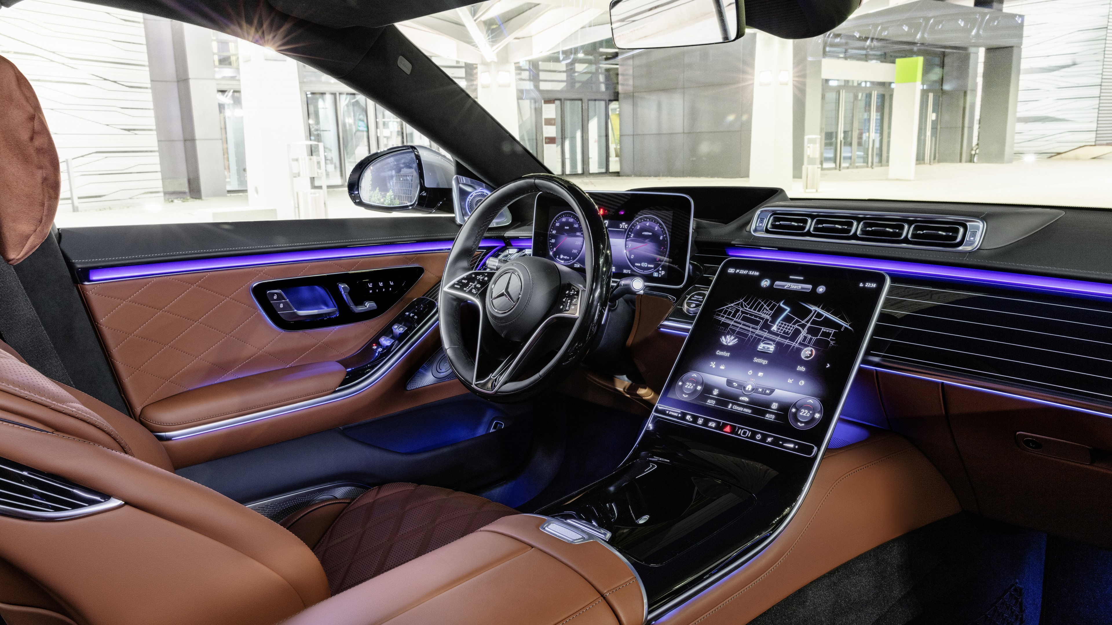 Mercedes Benz S Klasse Lang 2020 5k Interior Wallpaper Hd Car Wallpapers Id 15694