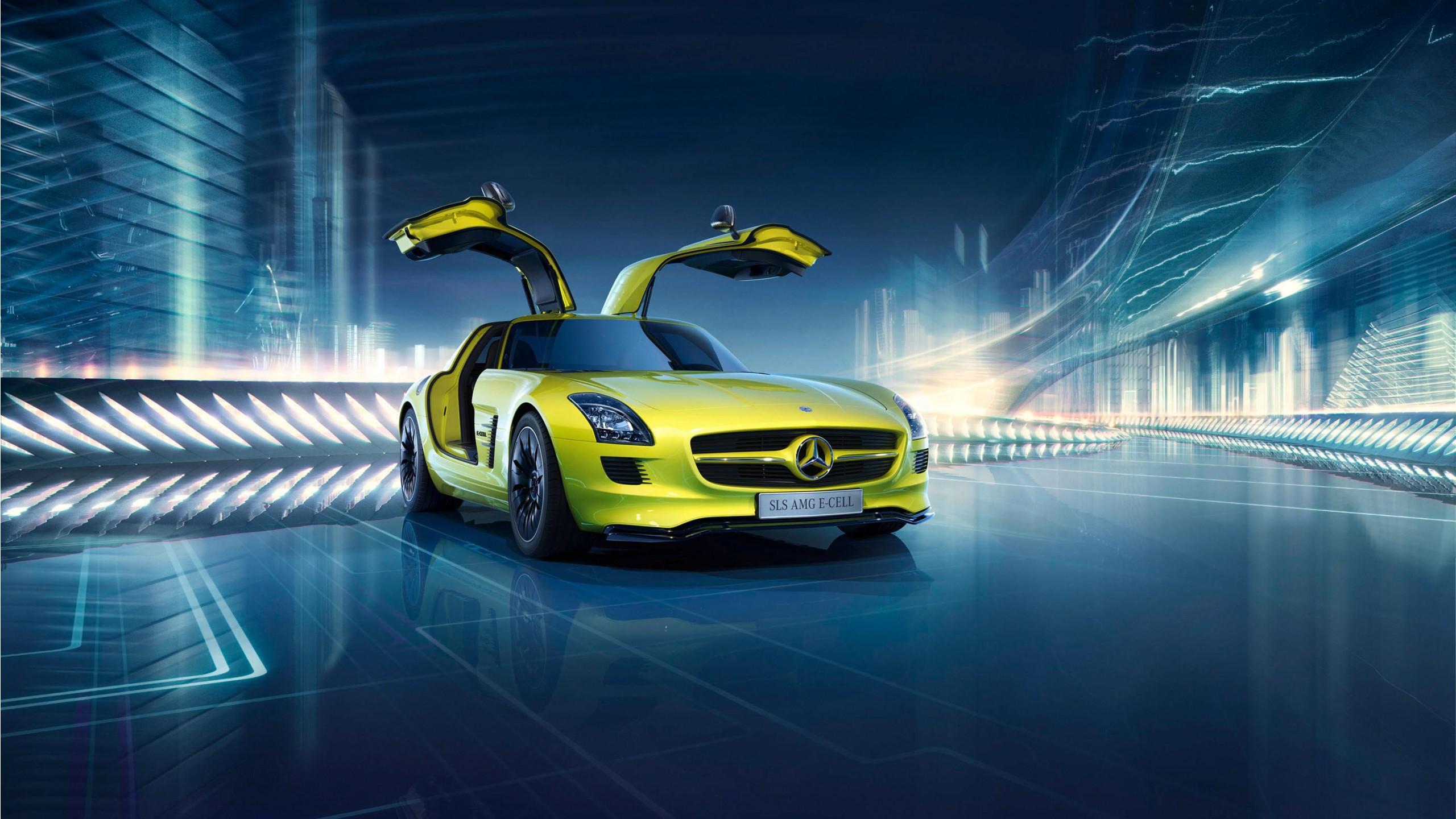 Mercedes Benz SLS AMG E Cell Wallpaper | HD Car Wallpapers ...