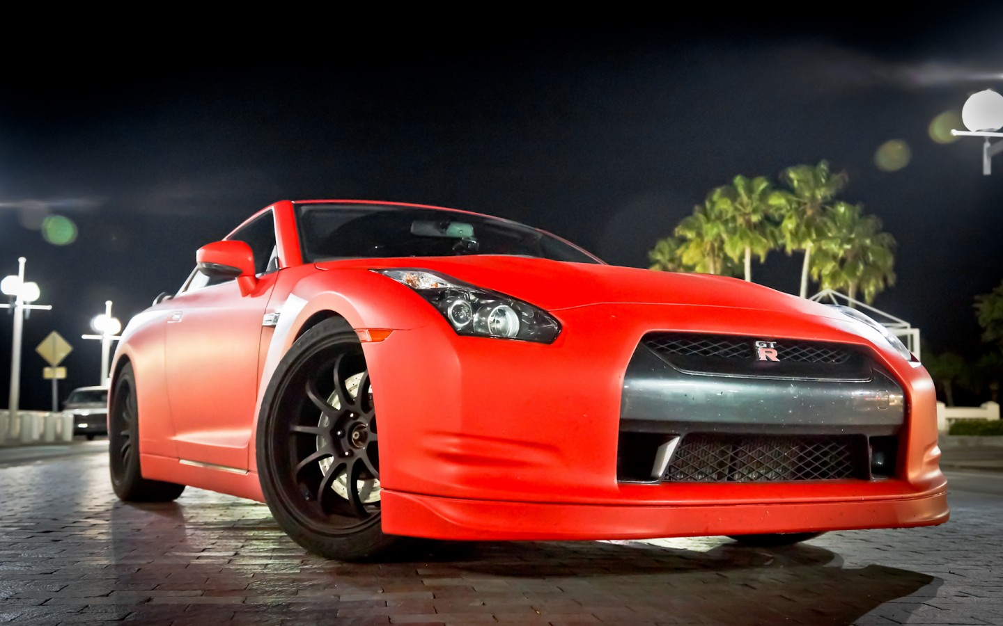 Red And Black Car Wallpapers: Nissan GTR Matte Red Wallpaper