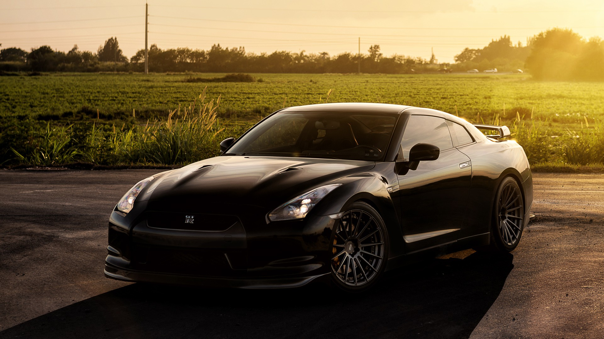 Cars Wallpapers: Nissan GTR On ADV1 Wheels Wallpaper