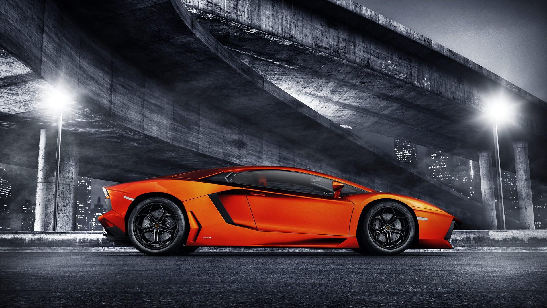 Orange Lamborghini Aventador Wallpaper HD Car Wallpapers