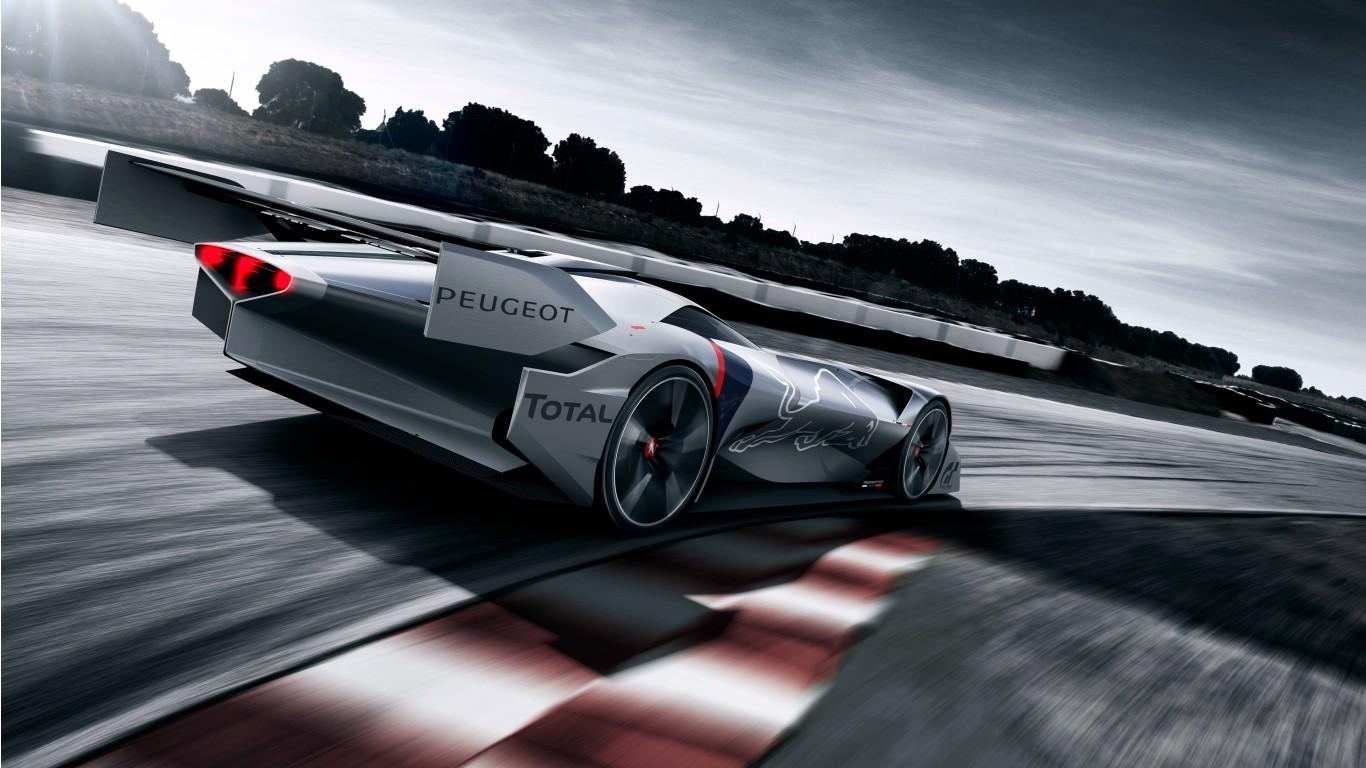 Peugeot L750 R Hybrid Vision Gran Turismo 4K 3 Wallpaper