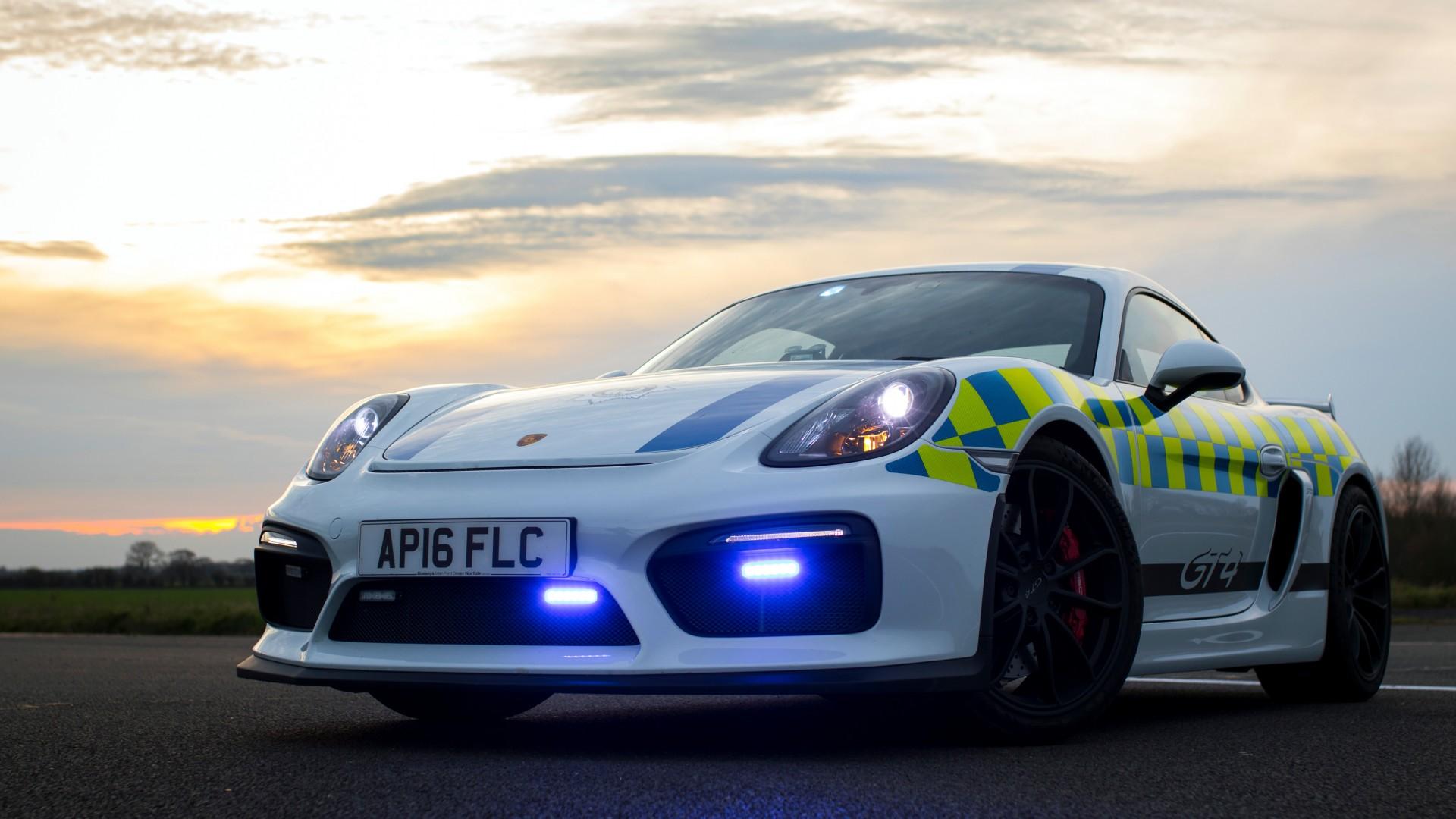 Porsche Cayman Gt4 Police Car 2017 4k Wallpaper Hd Car