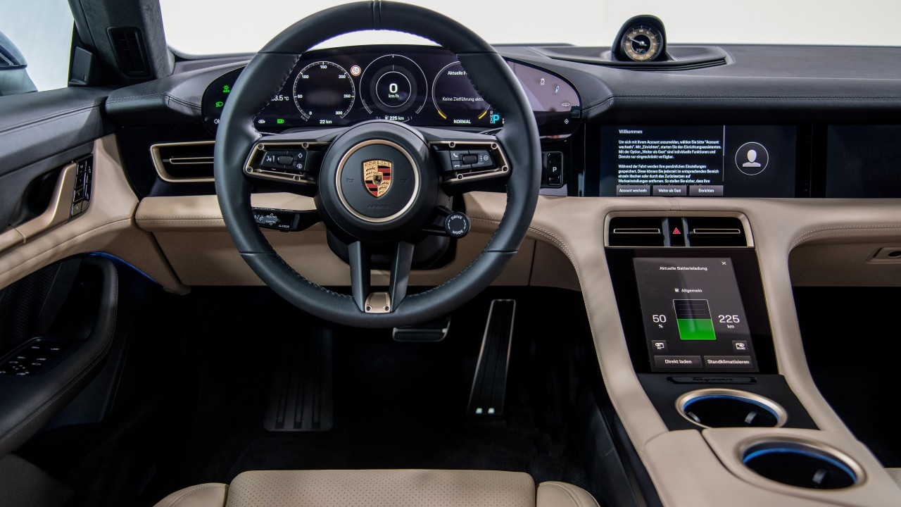 porsche taycan turbo 2019 interior 4k wallpaper